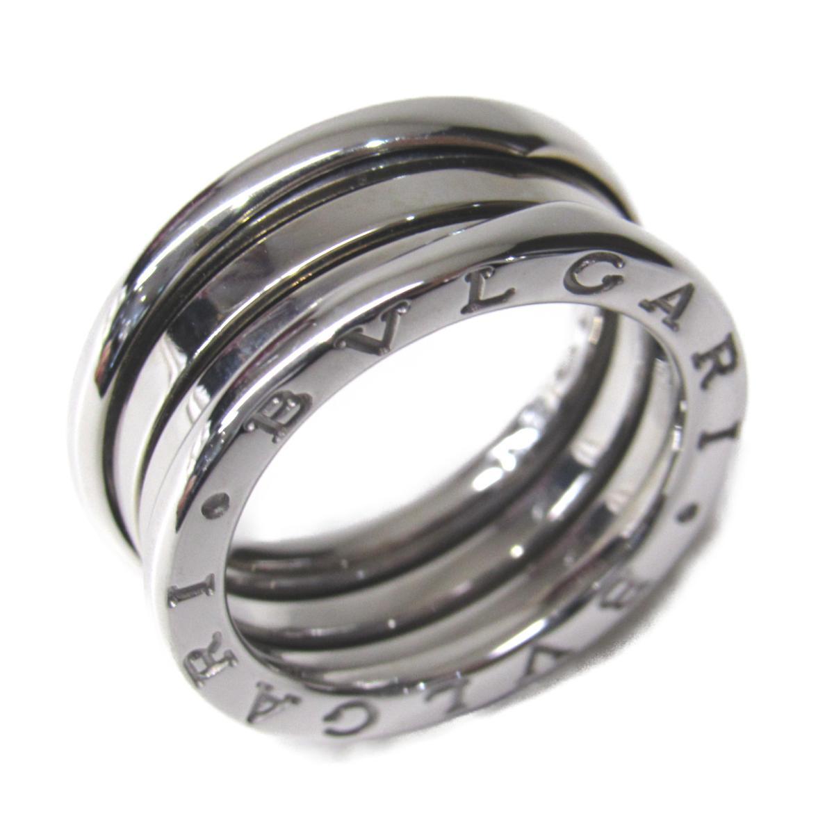 【中古】 ブルガリ B-zero1 リング Sサイズ メンズ レディース K18WG (750) ホワイトゴールド   BVLGARI BRANDOFF ブランドオフ ブランド ジュエリー アクセサリー 指輪