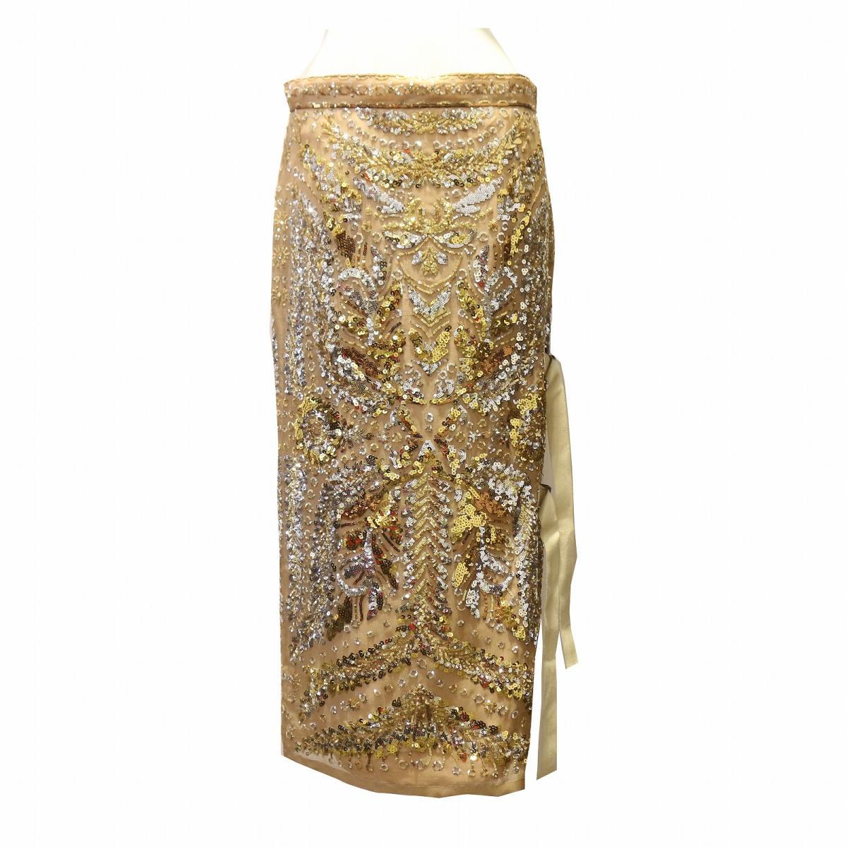 【中古】 ヌメロ・ヴェントゥーノ ロングスカート レディース シルク ベージュ x マルチカラー   N°21 BRANDOFF ブランドオフ 衣料品 衣類 ブランド ボトムス スカート