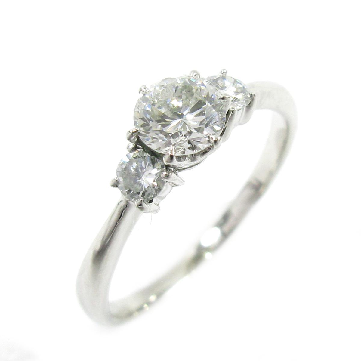【中古】 ジュエリー ダイヤモンドリング 指輪 レディース PT900 プラチナ x ダイヤモンド シルバー クリアー | JEWELRY BRANDOFF ブランドオフ ブランド アクセサリー リング