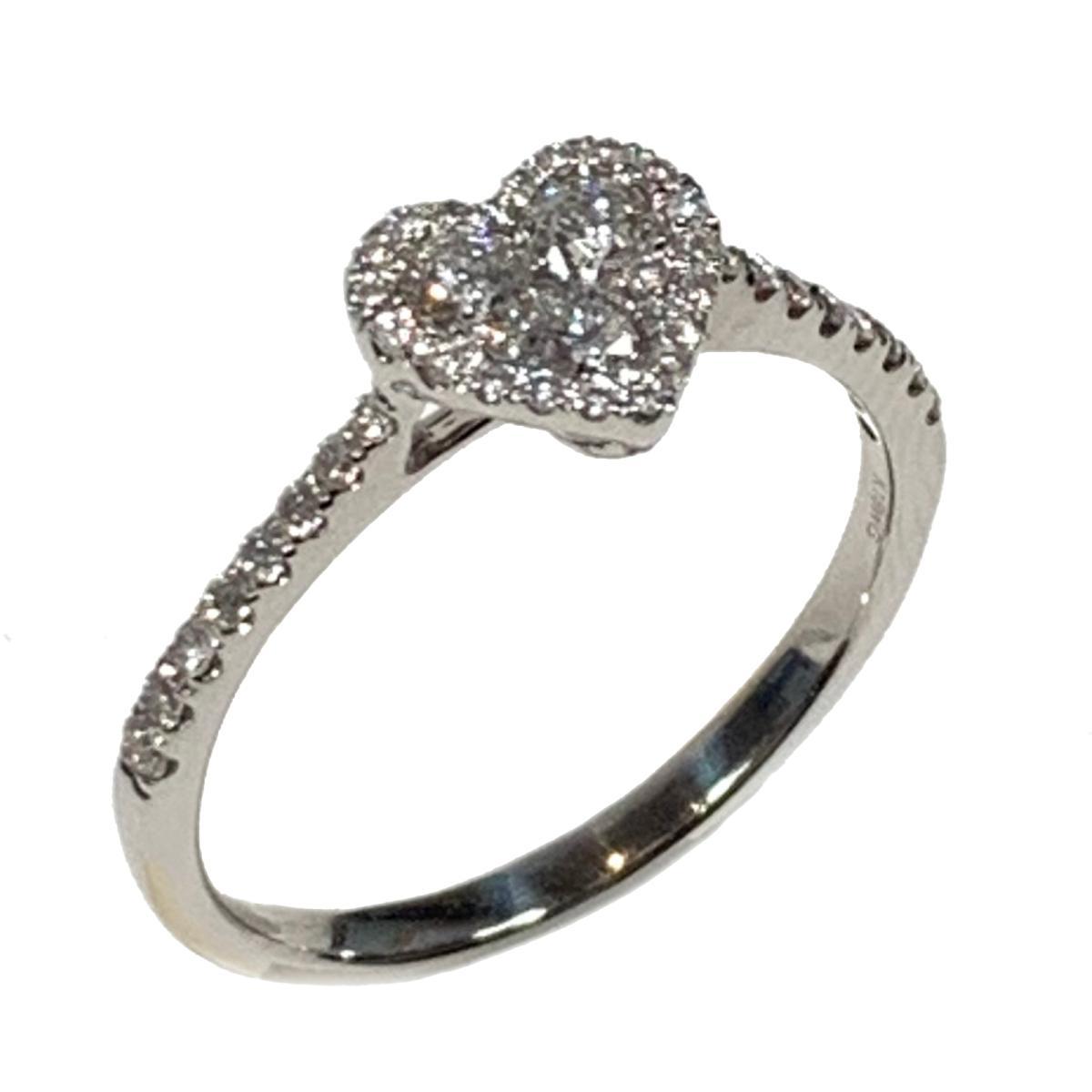 【中古】 ジュエリー ダイヤモンド リング 指輪 レディース K18WG (750) ホワイトゴールド x シルバー | JEWELRY BRANDOFF ブランドオフ ブランド アクセサリー