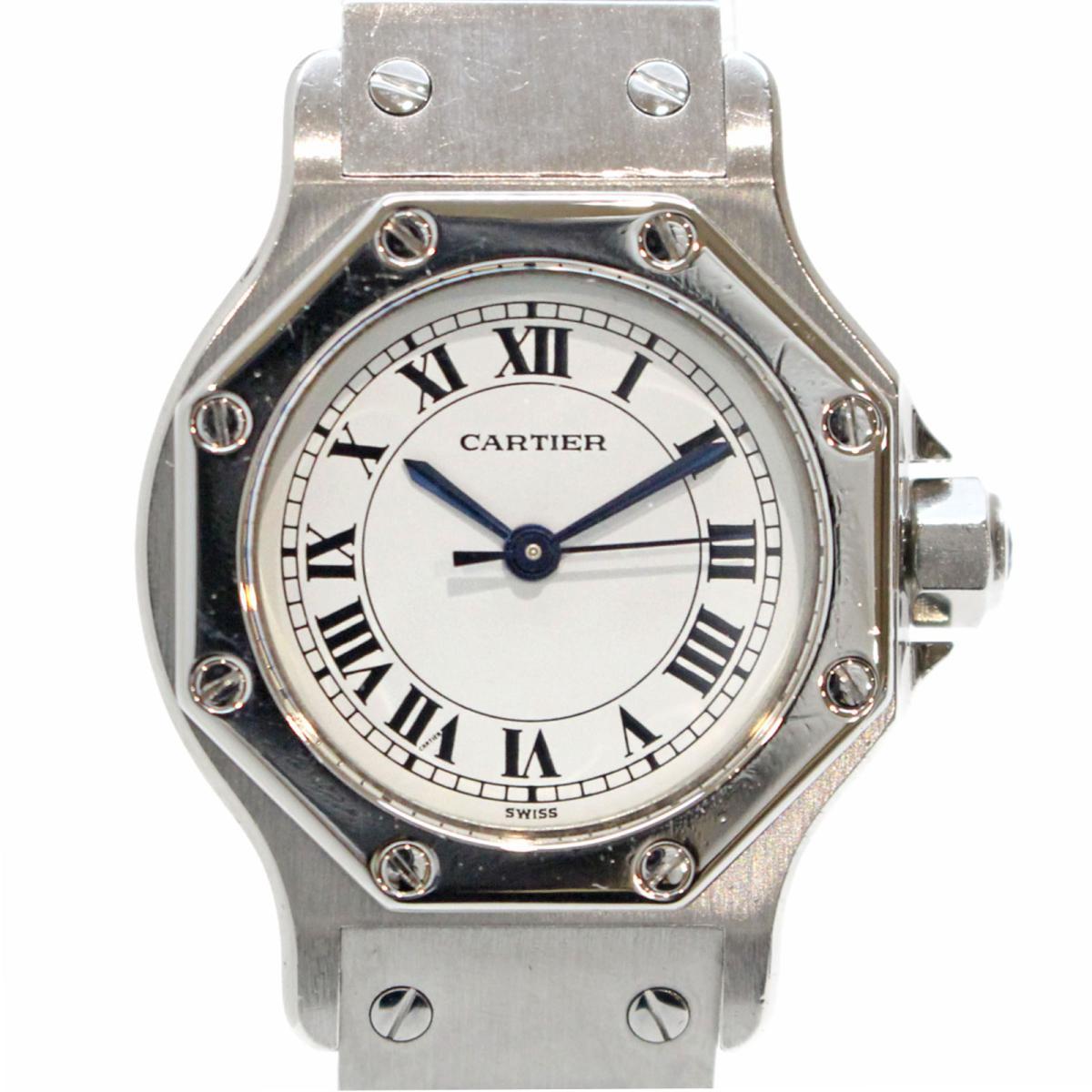 ≪期間限定≫メルマガ登録でクーポンGET! 【中古】 カルティエ サントスオクタゴンSM 腕時計 ウォッチ レディース ステンレススチール (SS) | Cartier BRANDOFF ブランドオフ ブランド ブランド時計 ブランド腕時計 時計