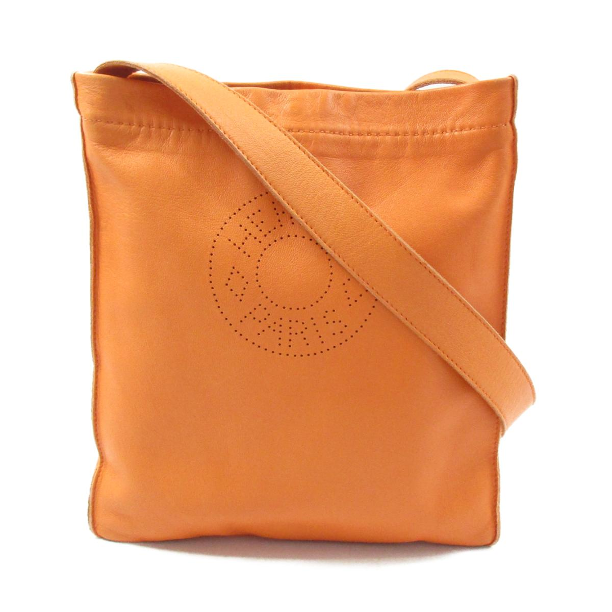 【中古】 エルメス クルードセル ショルダーバッグ レディース レザー オレンジ系   HERMES BRANDOFF ブランドオフ ブランド ブランドバッグ ブランドバック かばん バッグ バックバック 肩かけ