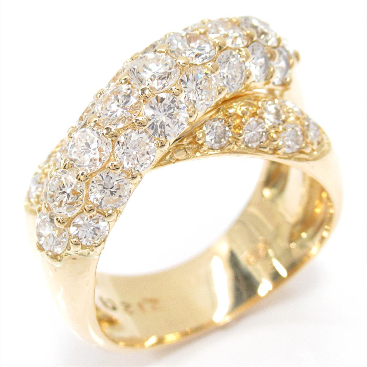 【中古】 ジュエリー ダイヤモンド リング 指輪 レディース K18YG (750) イエローゴールド x (2.12ct) | JEWELRY BRANDOFF ブランドオフ ブランド アクセサリー