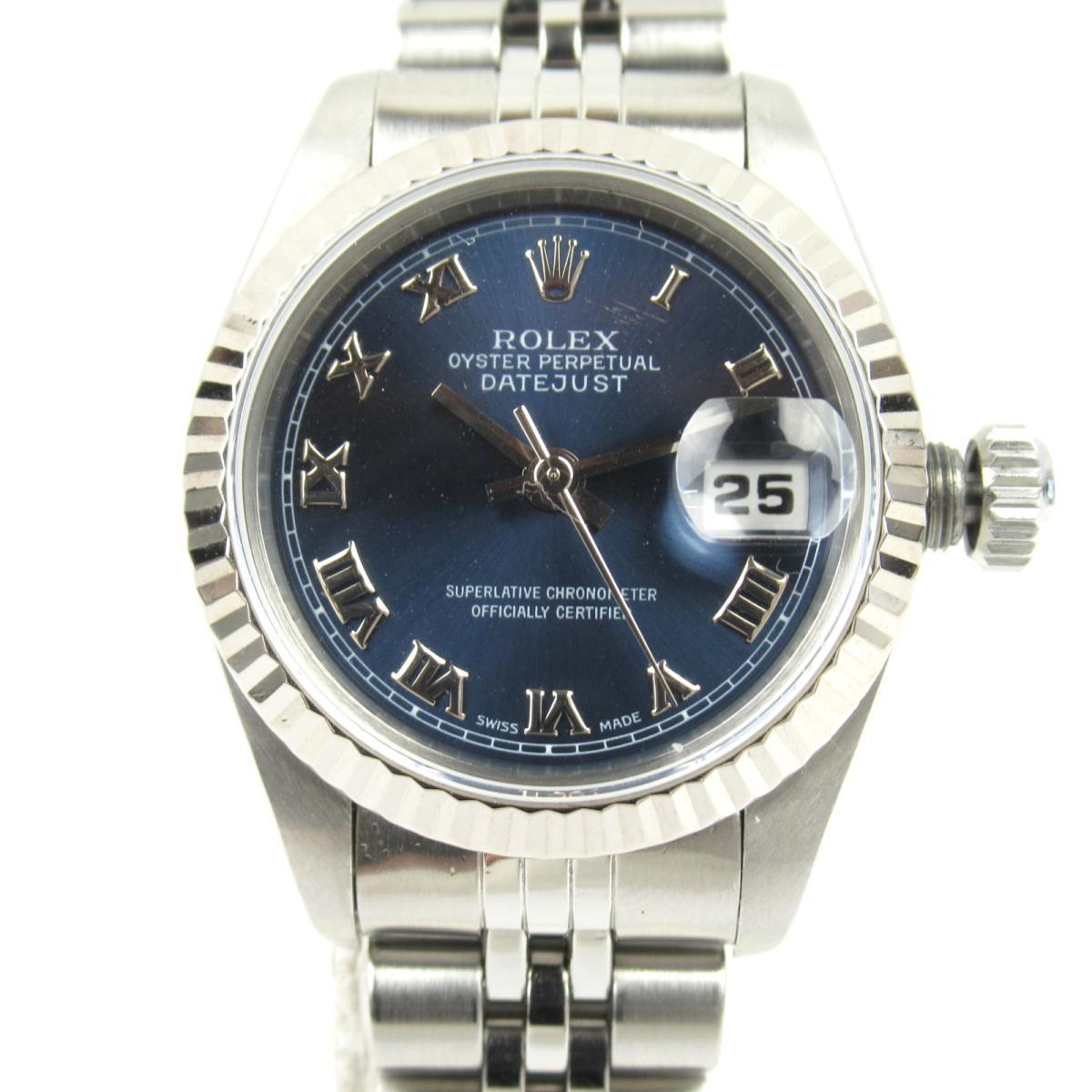 ≪期間限定≫メルマガ登録でクーポンGET! 【中古】 ロレックス デイトジャスト ウォッチ 腕時計 レディース K18WG (750)ホワイトゴールド ステンレススチール (SS) (69174 U番) | ROLEX BRANDOFF ブランドオフ メンズ ブランド ブランド時計 ブランド腕時計 時計