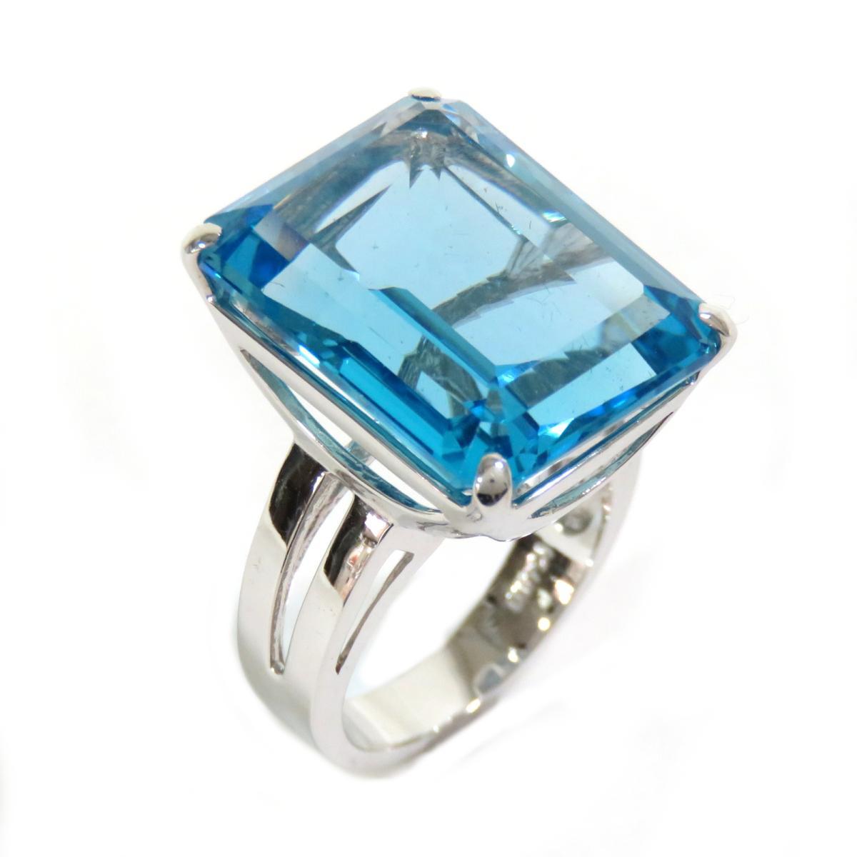 ジュエリー ブルートパーズ リング 指輪 レディース K14WG ホワイトゴールド | JEWELRY BRANDOFF ブランドオフ ブランド アクセサリー:Brandoff銀座