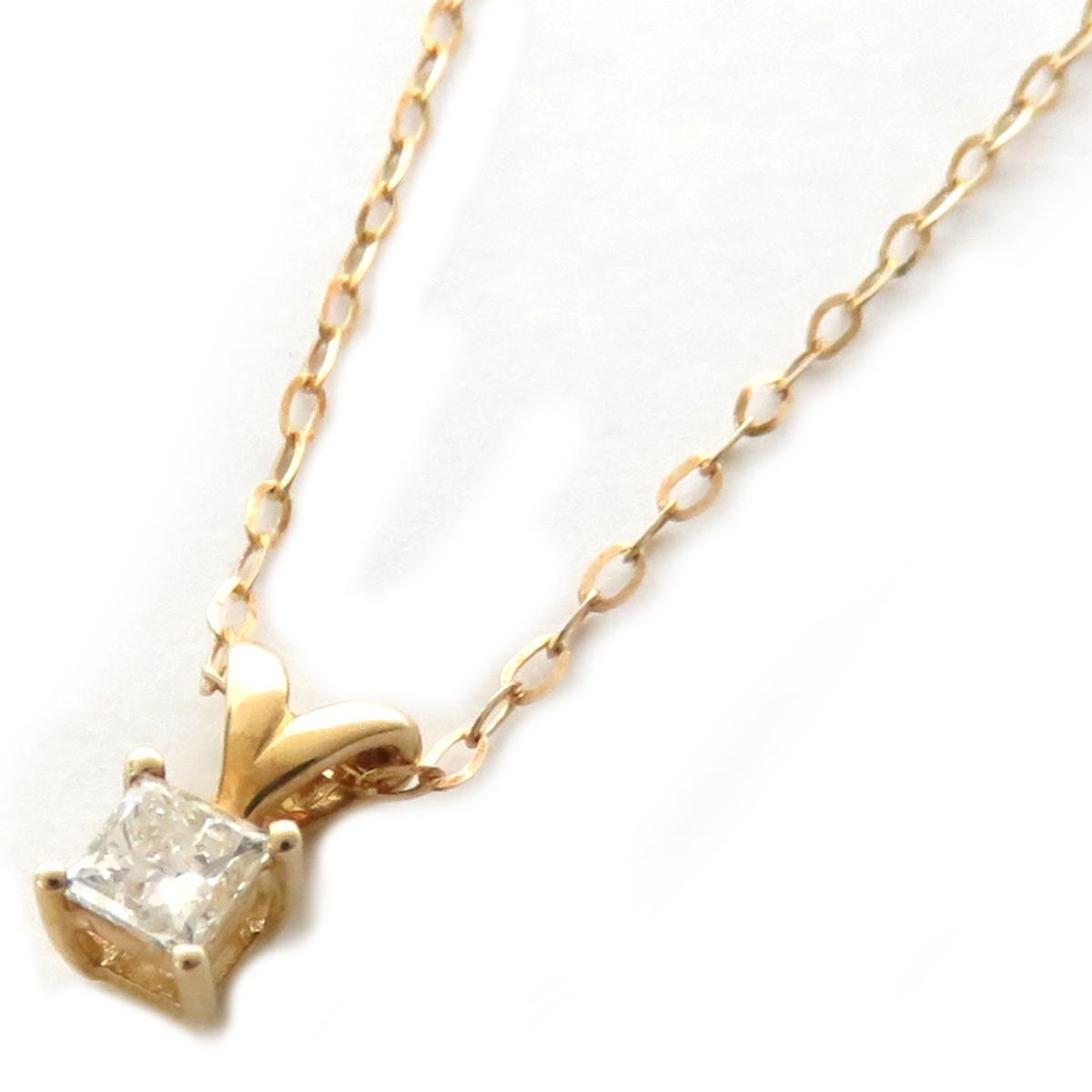【中古】 ジュエリー ダイヤモンド ネックレス レディース K18YG (750) イエローゴールド | JEWELRY BRANDOFF ブランドオフ ブランド アクセサリー ペンダント