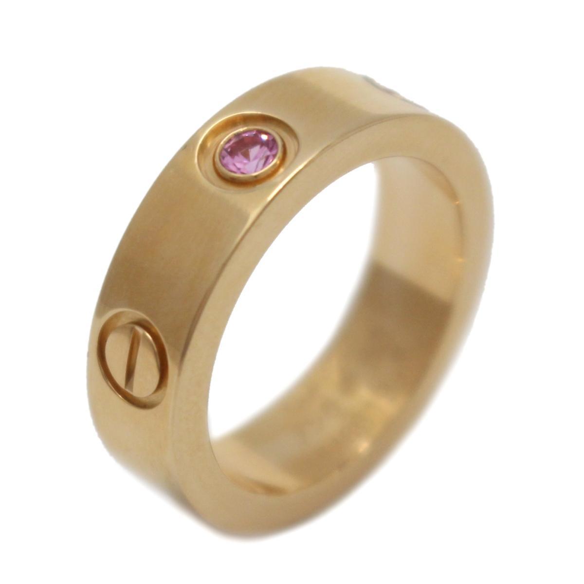 【中古】 カルティエ ラブリング 1Pピンクサファイア 指輪 レディース K18PG (750) ピンクゴールド x ピンクサファイア (1P)   Cartier BRANDOFF ブランドオフ ブランド ジュエリー アクセサリー リング