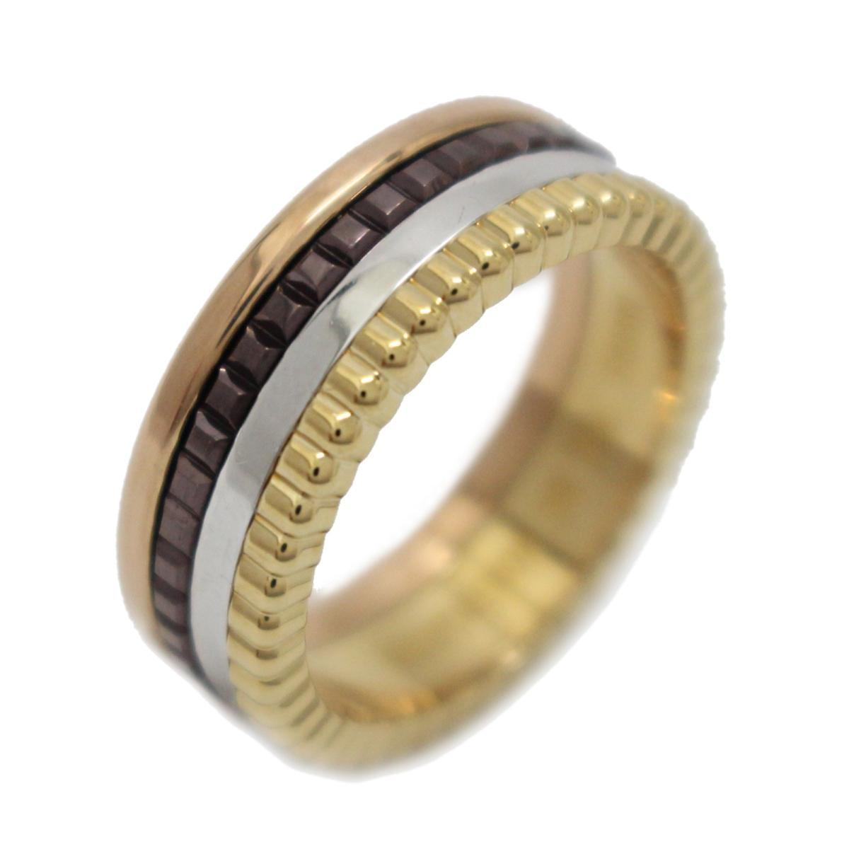 【中古】 ブシュロン キャトルクラシック リングスモール 指輪 メンズ レディース K18YG (750) K18WG K18PG (750) PVD フォーカラー | BOUCHERON BRANDOFF ブランドオフ ブランド ジュエリー リング