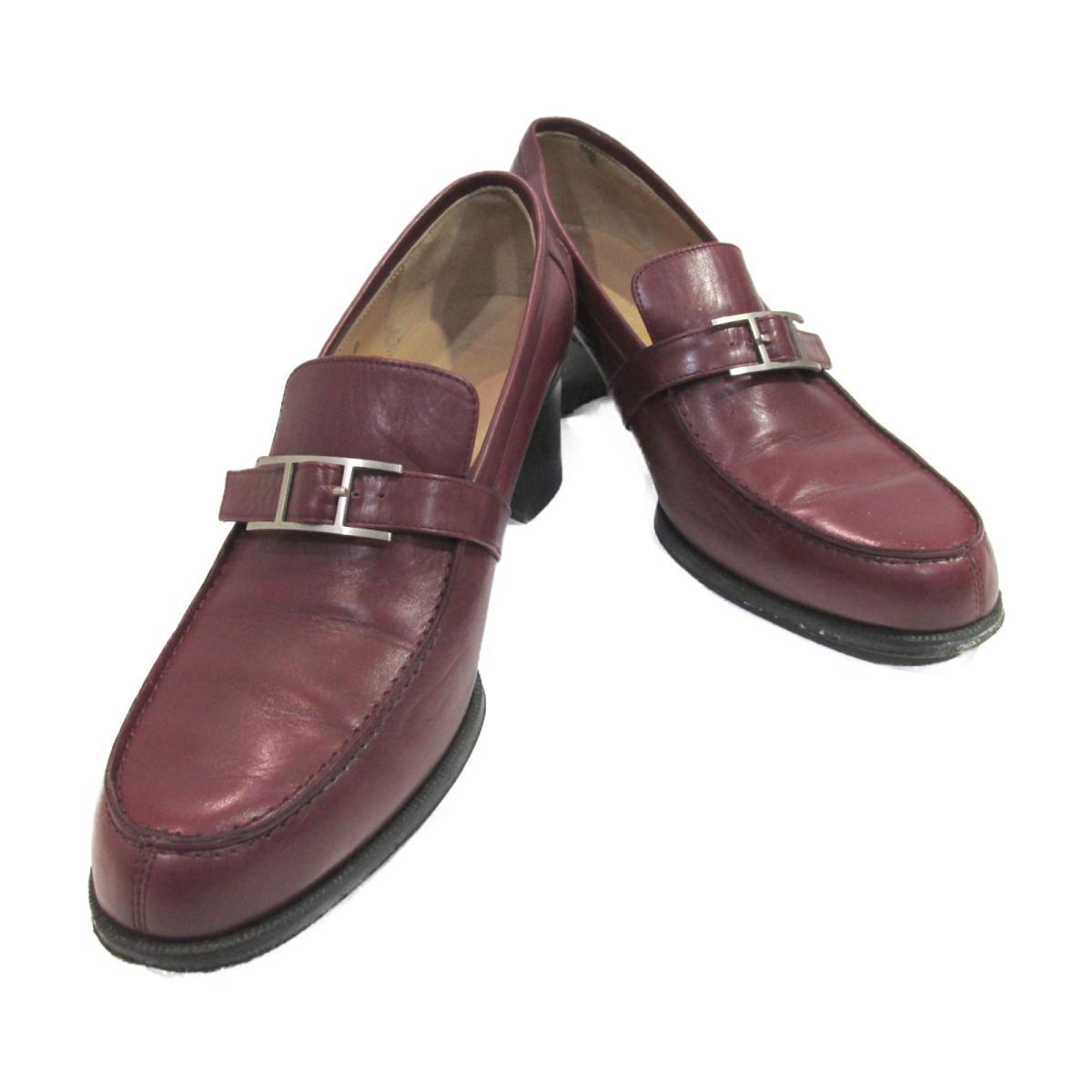 【中古】 エルメス 革靴 レディース レザー ボルドー   HERMES BRANDOFF ブランドオフ ブランド 靴 シューズ クツ ローファー