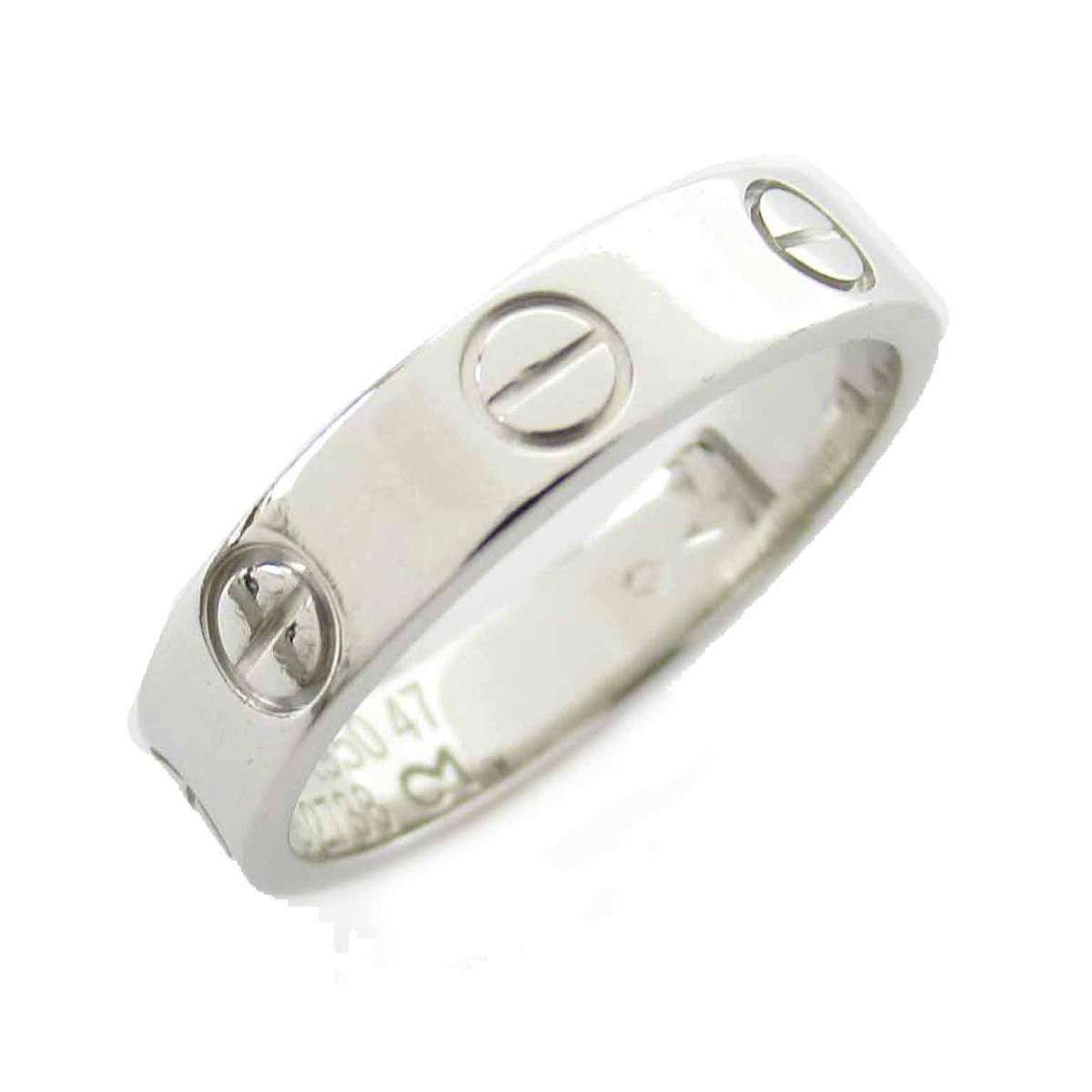 【中古】 カルティエ ミニラブリング 指輪 レディース PT950 プラチナ | Cartier BRANDOFF ブランドオフ ブランド ジュエリー アクセサリー リング