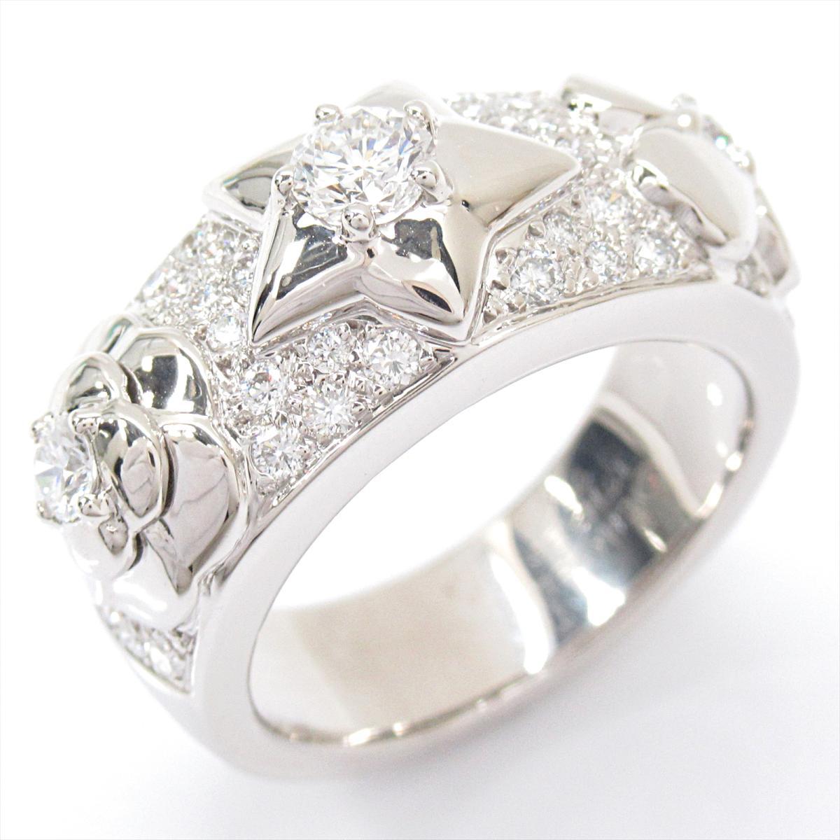 【中古】 シャネル スリーシンボル ダイヤモンド リング 指輪 レディース K18WG (750) ホワイトゴールド x | CHANEL BRANDOFF ブランドオフ ブランド ジュエリー アクセサリー
