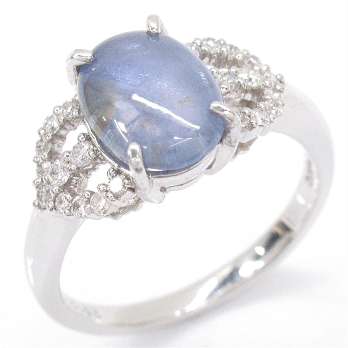 【中古】 ジュエリー スターサファイア リング 指輪 レディース PT900 プラチナ x ダイヤモンド | JEWELRY BRANDOFF ブランドオフ ブランド アクセサリー