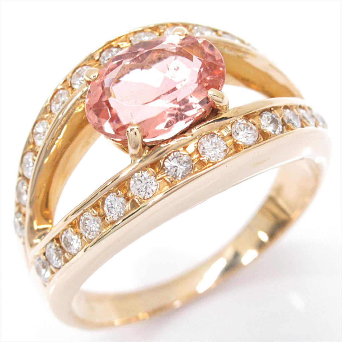 【中古】 ジュエリー トルマリン リング 指輪 レディース K18YG (750) イエローゴールド x ダイヤモンド | JEWELRY BRANDOFF ブランドオフ ブランド アクセサリー