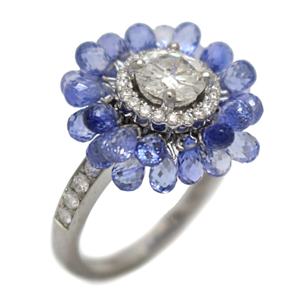 【中古】 ジュエリー ダイヤモンド サファイア リング 指輪 レディース K18WG (750) ホワイトゴールド x   JEWELRY BRANDOFF ブランドオフ ブランド アクセサリー