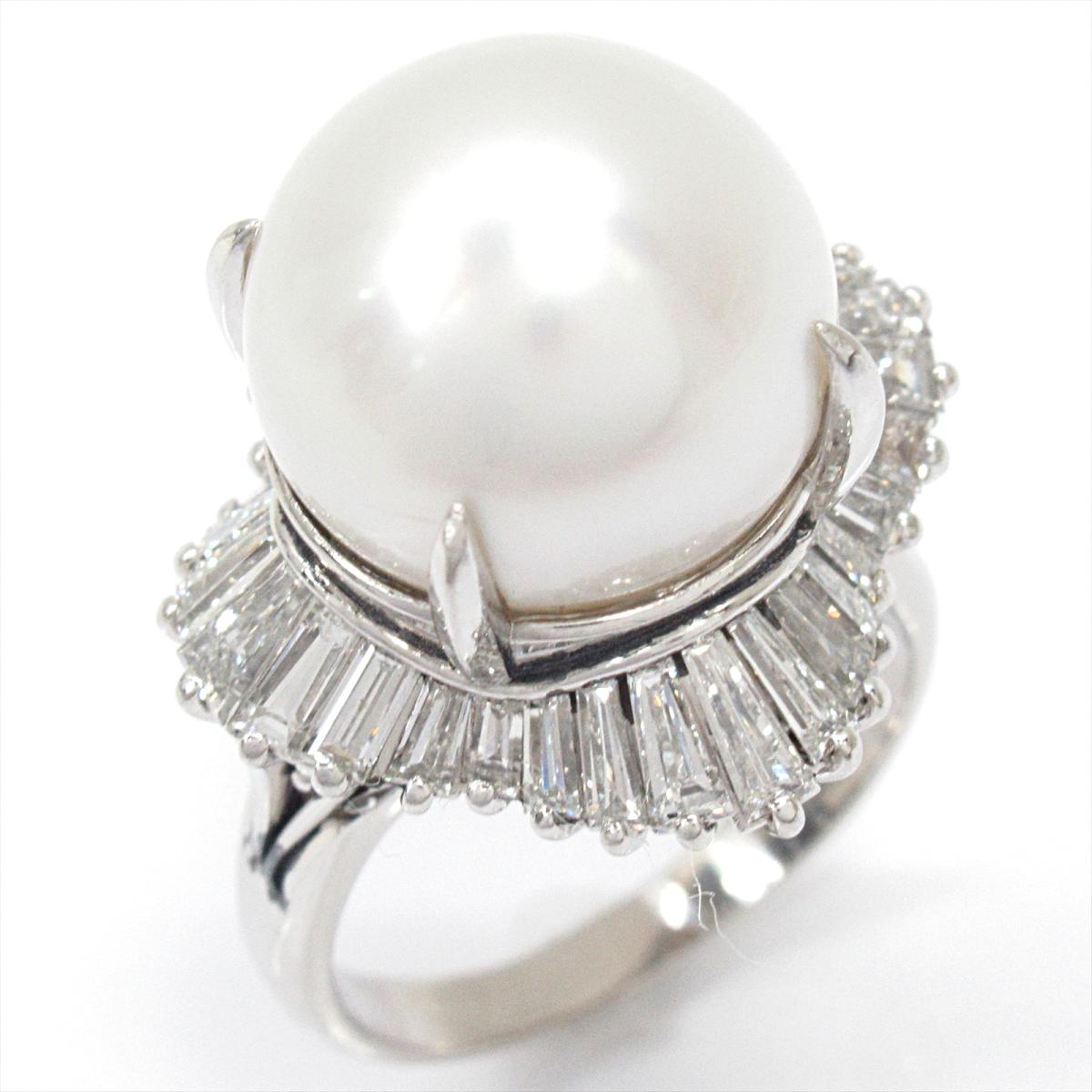 【中古】 ジュエリー パール リング 指輪 レディース PT900 プラチナ x ダイヤモンド   JEWELRY BRANDOFF ブランドオフ ブランド アクセサリー