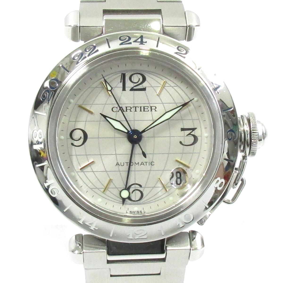 ≪期間限定≫メルマガ登録でクーポンGET! 【中古】 カルティエ パシャC メリディアン ウォッチ 腕時計 メンズ レディース ステンレススチール (SS) シルバー (W31078M7) | Cartier BRANDOFF ブランドオフ ブランド ブランド時計 ブランド腕時計 時計