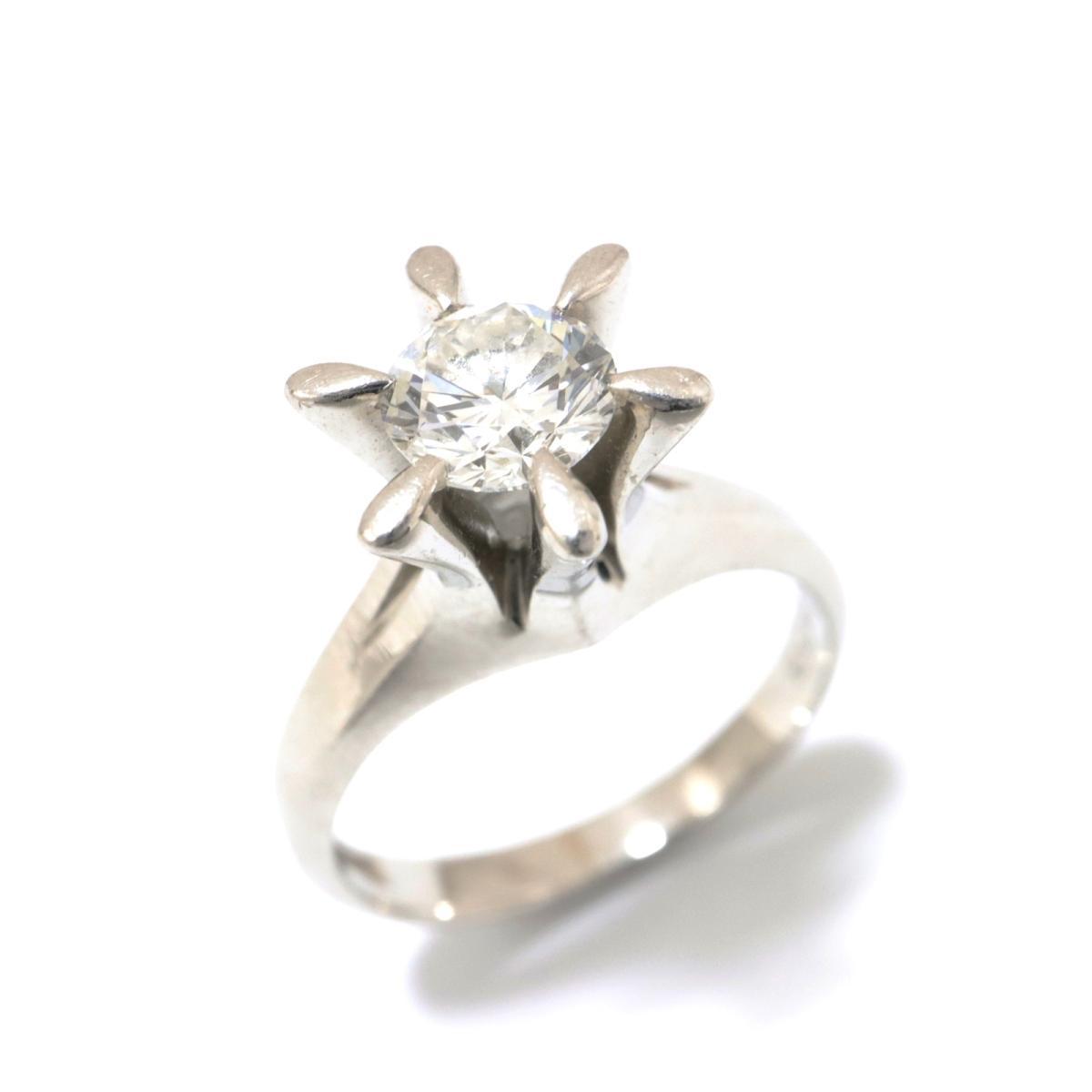 【中古】 ジュエリー ダイヤモンド リング 指輪 レディース PT900 プラチナ x クリアー シルバー | JEWELRY BRANDOFF ブランドオフ ブランド アクセサリー