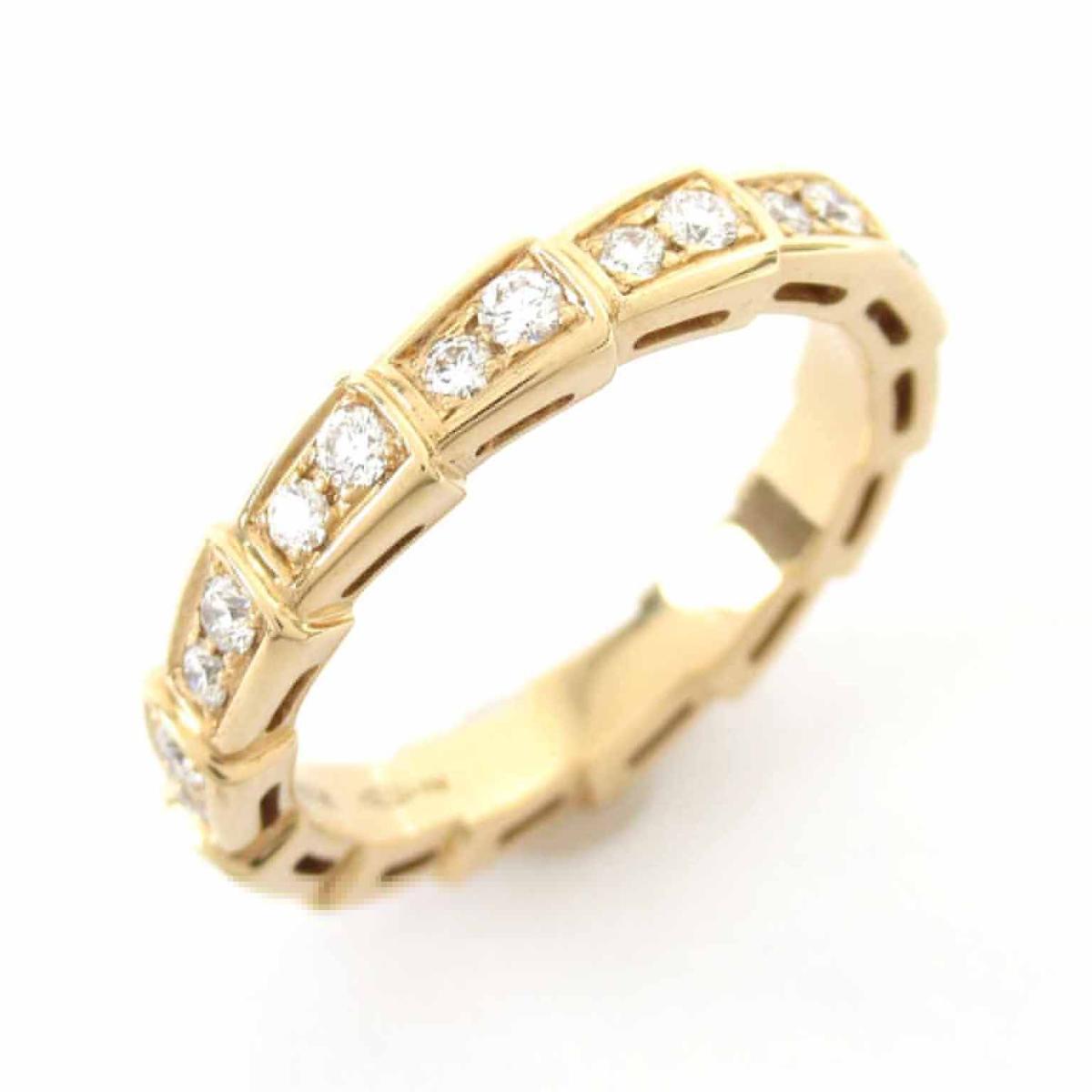 【中古】 ブルガリ セルペンティリング 指輪 レディース K18PG (750) ピンクゴールド x ダイヤモンド   BVLGARI BRANDOFF ブランドオフ ブランド ジュエリー アクセサリー リング
