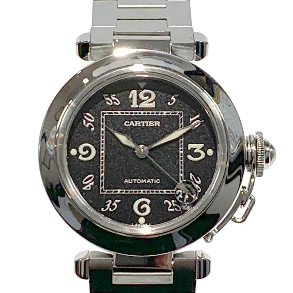 ≪期間限定≫メルマガ登録でクーポンGET! 【中古】 カルティエ パシャC 腕時計 ウォッチ レディース ステンレススチール (SS) シルバー ブラック (W31043M7) | Cartier BRANDOFF ブランドオフ ブランド ブランド時計 ブランド腕時計 時計