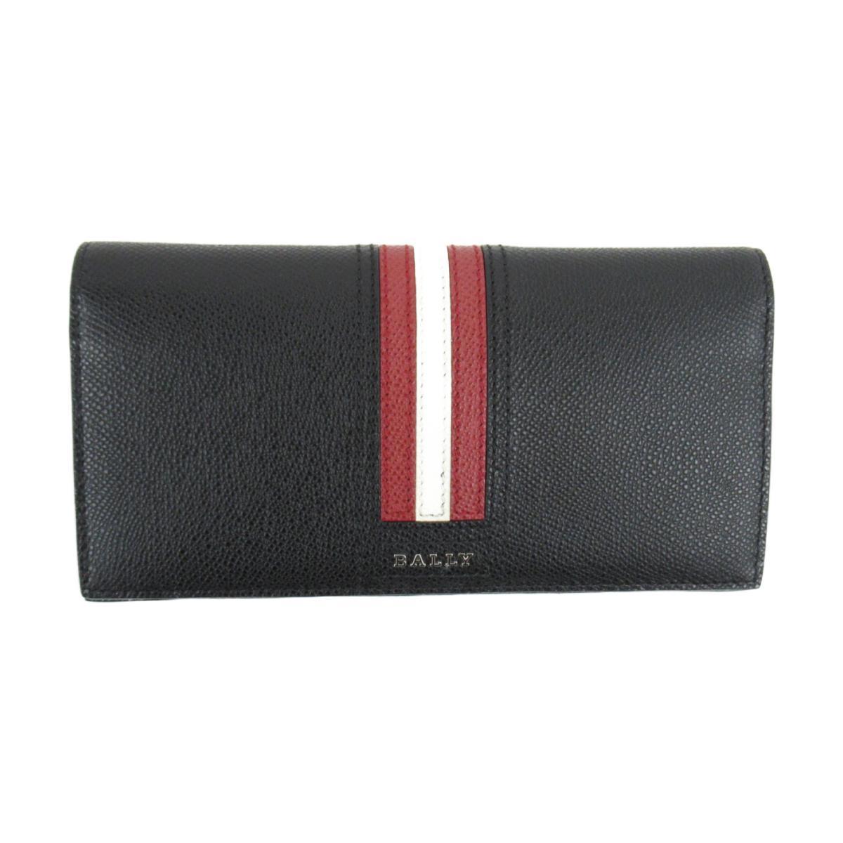 バリー ストライプ ZIP長財布 メンズ レザー ブラック (6218067) | BALLY BRANDOFF ブランドオフ レディース ブランド ブランド財布 財布 サイフ