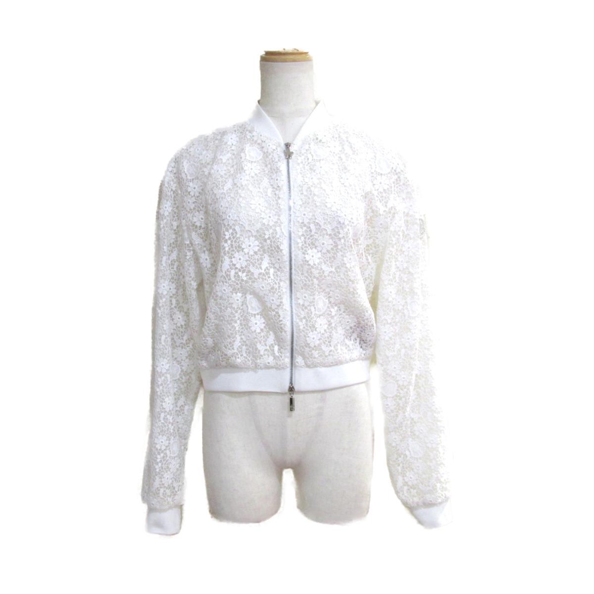【中古】 モンクレール 2018 ブルゾン レディース コットン x ポリエステル ホワイト   MONCLER BRANDOFF ブランドオフ 衣料品 衣類 ブランド アウター ジャケット コート