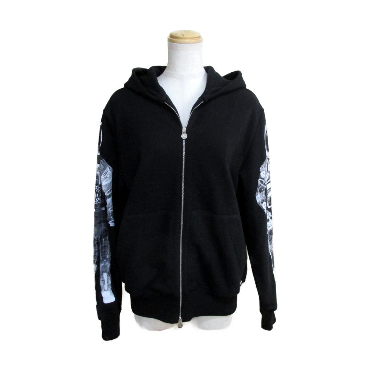 【中古】 シャネル パーカー レディース コットン ブラック x ホワイト (P5746K07601) | CHANEL BRANDOFF ブランドオフ 衣料品 衣類 ブランド トップス