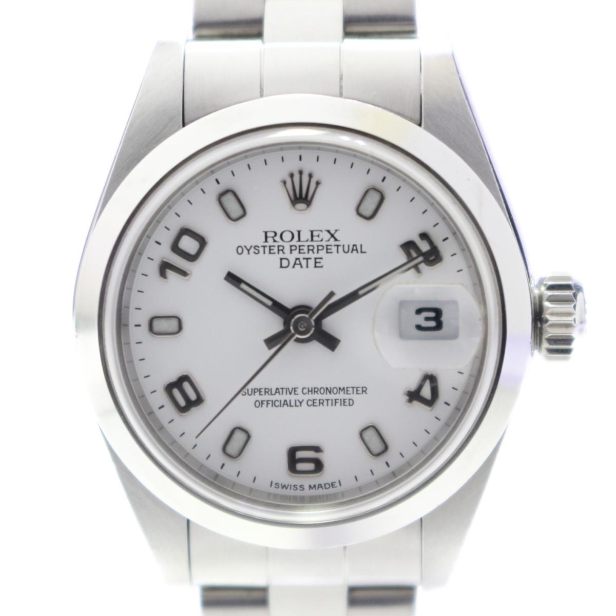 【中古】 ロレックス オイスターパーペチュアルデイト 腕時計 ウォッチ レディース ステンレススチール (SS) (69160) | ROLEX BRANDOFF ブランドオフ メンズ ブランド ブランド時計 ブランド腕時計 時計