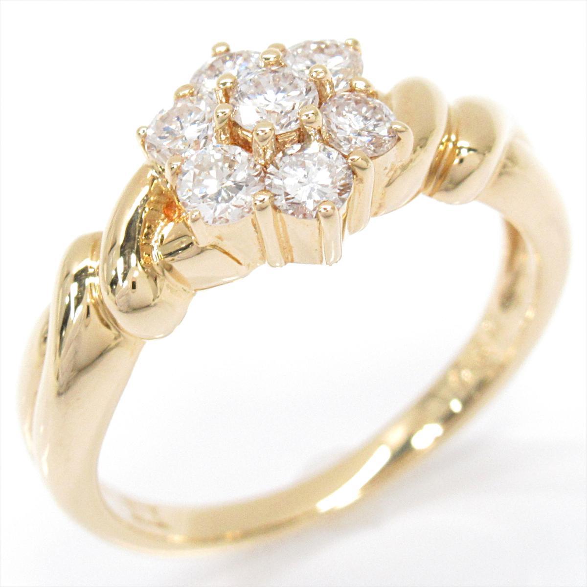 【中古】 ジュエリー ダイヤモンド リング 指輪 レディース K18YG (750) イエローゴールド x | JEWELRY BRANDOFF ブランドオフ ブランド アクセサリー