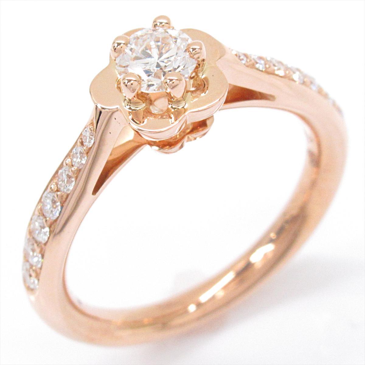 【中古】 シャネル カメリアコレクション エンゲージメント リング 指輪 レディース K18PG (750) ピンクゴールド x ダイヤモンド (J10834) | CHANEL BRANDOFF ブランドオフ ブランド ジュエリー アクセサリー
