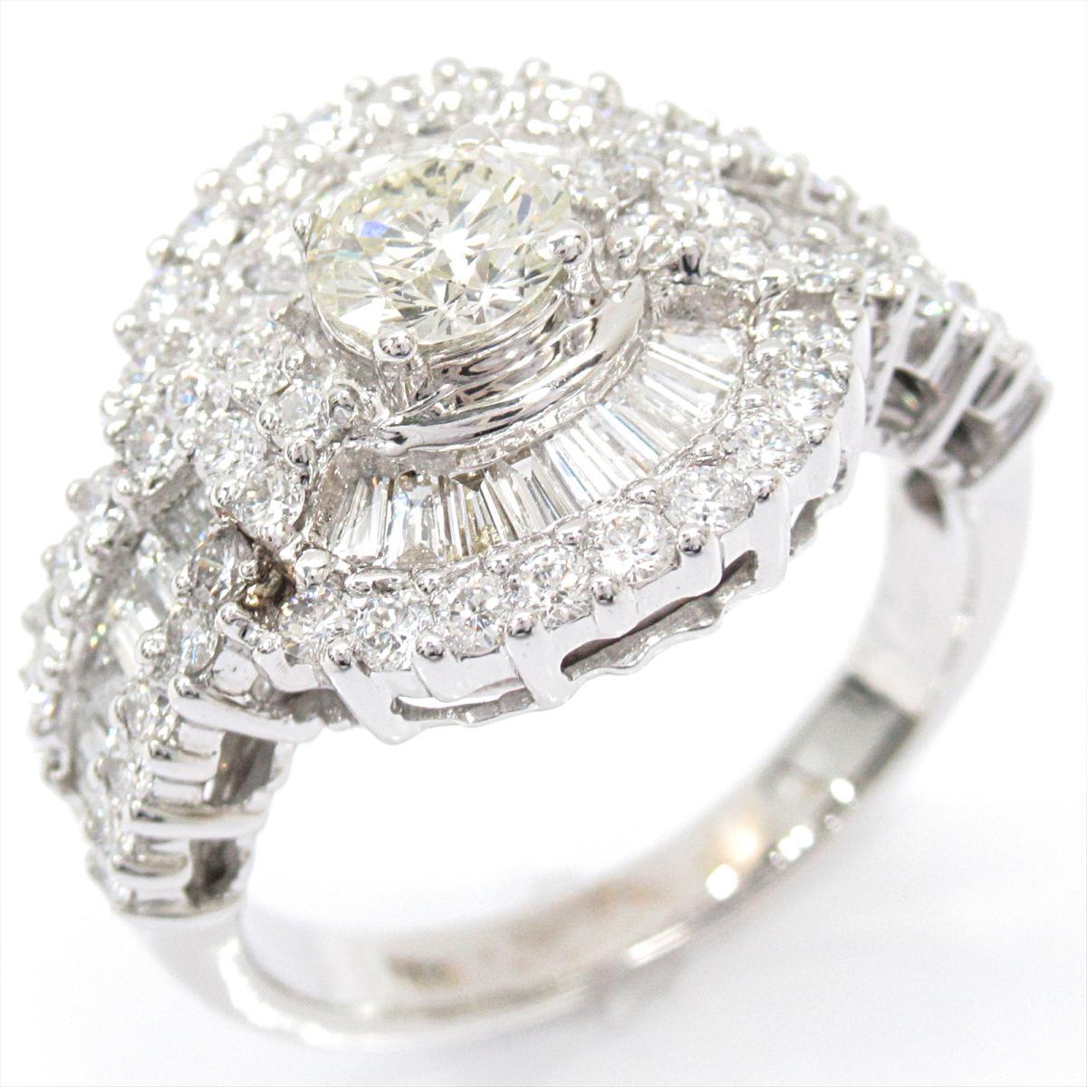【中古】 ジュエリー ダイヤモンド リング 指輪 レディース 18KWG (ホワイトゴールド) x | JEWELRY BRANDOFF ブランドオフ ブランド アクセサリー