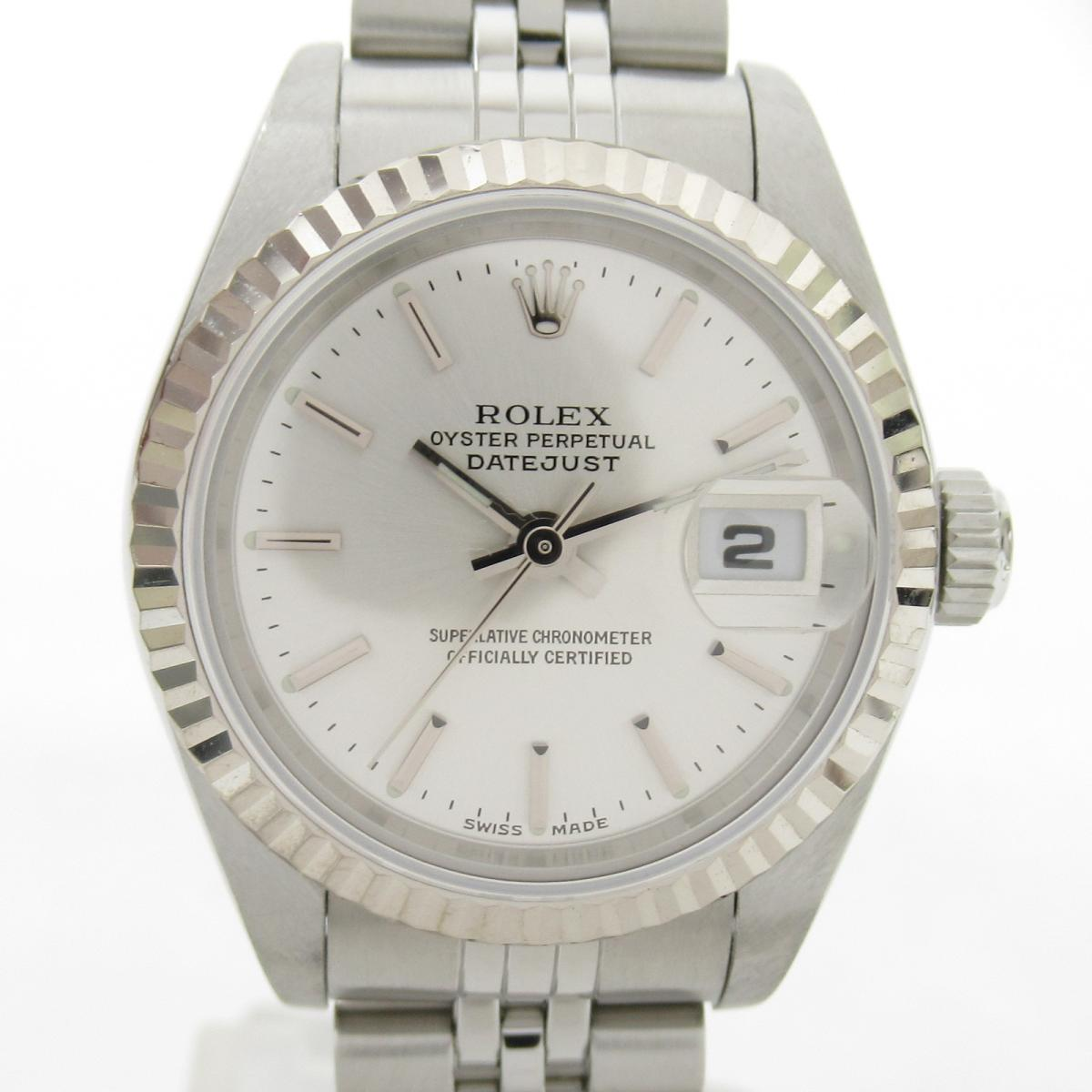 ≪期間限定≫メルマガ登録でクーポンGET! 【中古】 ロレックス デイトジャスト ウォッチ 腕時計 レディース K18WG (750)ホワイトゴールド ステンレススチール (SS) (79174 F番) | ROLEX BRANDOFF ブランドオフ ブランド ブランド時計 ブランド腕時計 時計