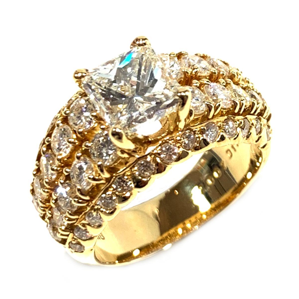 【中古】 ジュエリー ダイヤモンド リング 指輪 レディース K18YG (750) イエローゴールド x ダイヤモンド2.0071.70ct クリアー ゴールド | JEWELRY BRANDOFF ブランドオフ ブランド アクセサリー