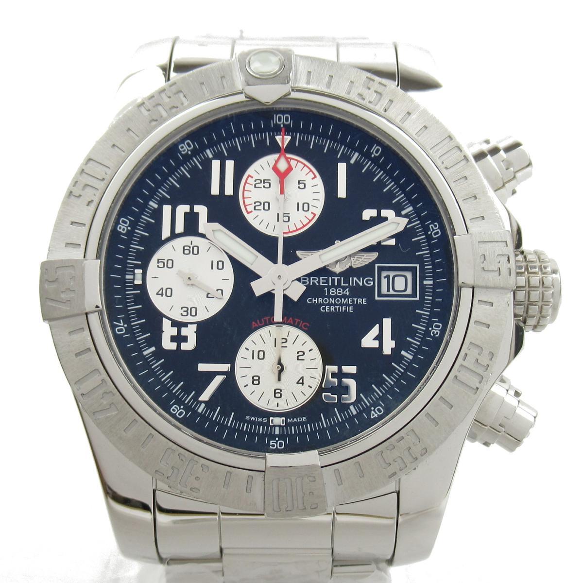 【中古】 ブライトリング アベンジャー2 ウォッチ 腕時計 メンズ ステンレススチール (SS) (A1338111) | BREITLING BRANDOFF ブランドオフ ブランド ブランド時計 ブランド腕時計 時計