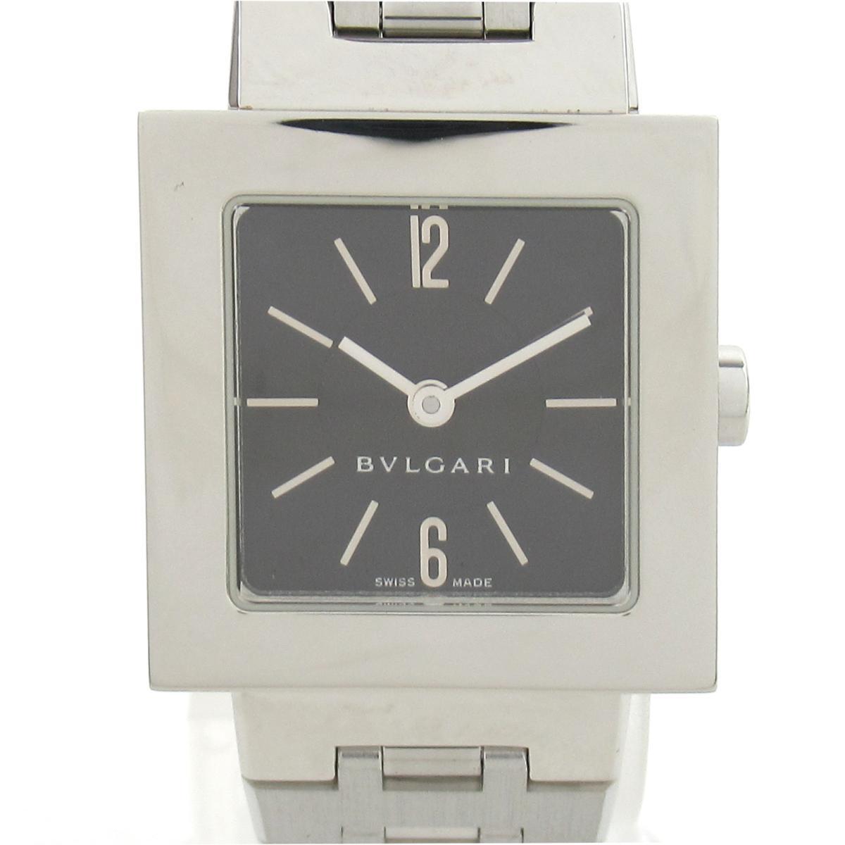 【中古】 ブルガリ クアドラート ウォッチ 腕時計 レディース ステンレススチール (SS) (SQ22SS) | BVLGARI BRANDOFF ブランドオフ ブランド ブランド時計 ブランド腕時計 時計