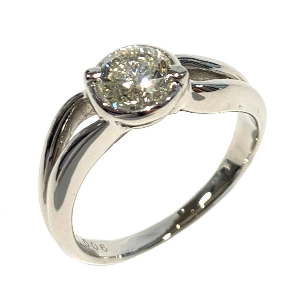 【中古】 ジュエリー ダイヤモンド リング 指輪 レディース PT900 プラチナ x ダイヤ1.006ct クリアー シルバー   JEWELRY BRANDOFF ブランドオフ ブランド アクセサリー