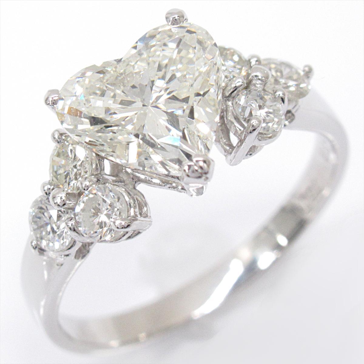 【中古】 ジュエリー ダイヤモンド リング 指輪 レディース K18WG (750) ホワイトゴールド x | JEWELRY BRANDOFF ブランドオフ ブランド アクセサリー
