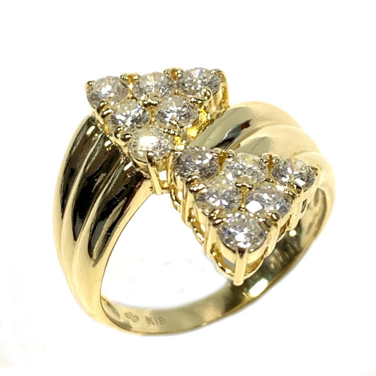 【中古】 ジュエリー ダイアヤモンドリング 指輪 レディース K18YG (750) イエローゴールド x ダイヤモンド1.00ct ゴールド クリアー | JEWELRY BRANDOFF ブランドオフ ブランド アクセサリー リング