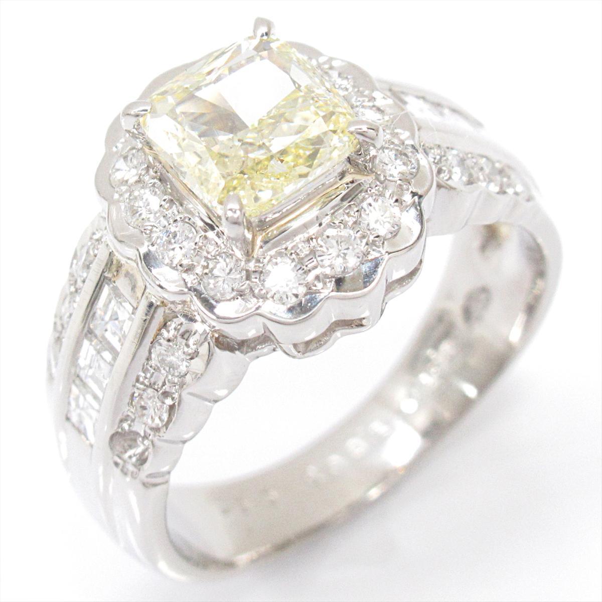 【中古】 ジュエリー ダイヤモンド リング 指輪 レディース PT900 プラチナ x (1.003/0.67ct) | JEWELRY BRANDOFF ブランドオフ ブランド アクセサリー