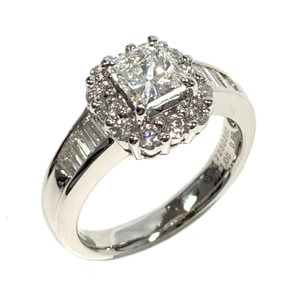 【中古】 ジュエリー ダイヤモンド リング 指輪 レディース PT900 プラチナ x ダイヤ1.00/0.80ct クリアー シルバー   JEWELRY BRANDOFF ブランドオフ ブランド アクセサリー