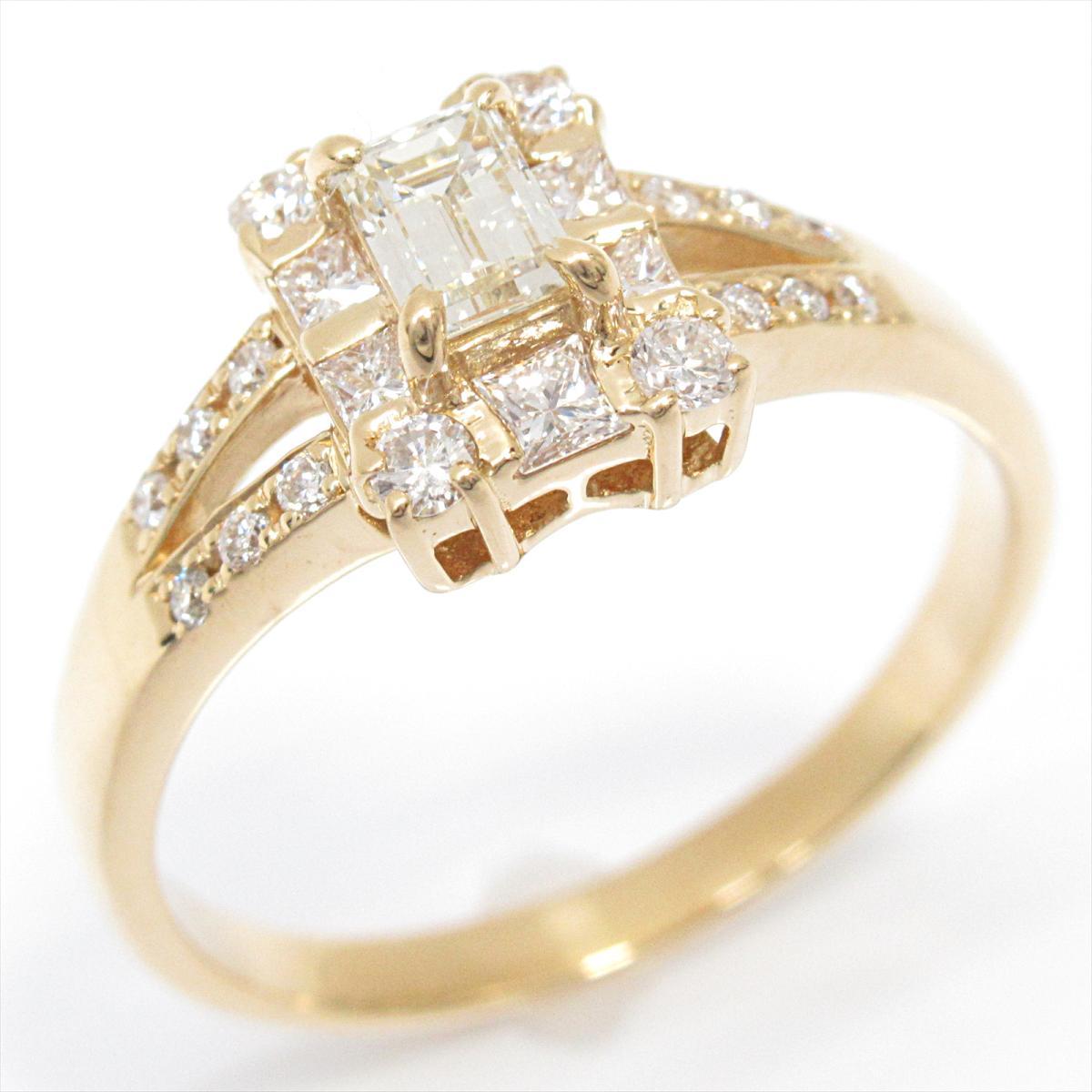 【中古】 ジュエリー ダイヤモンド リング 指輪 レディース K18YG (750) イエローゴールド x (0.366/0.45ct) | JEWELRY BRANDOFF ブランドオフ ブランド アクセサリー