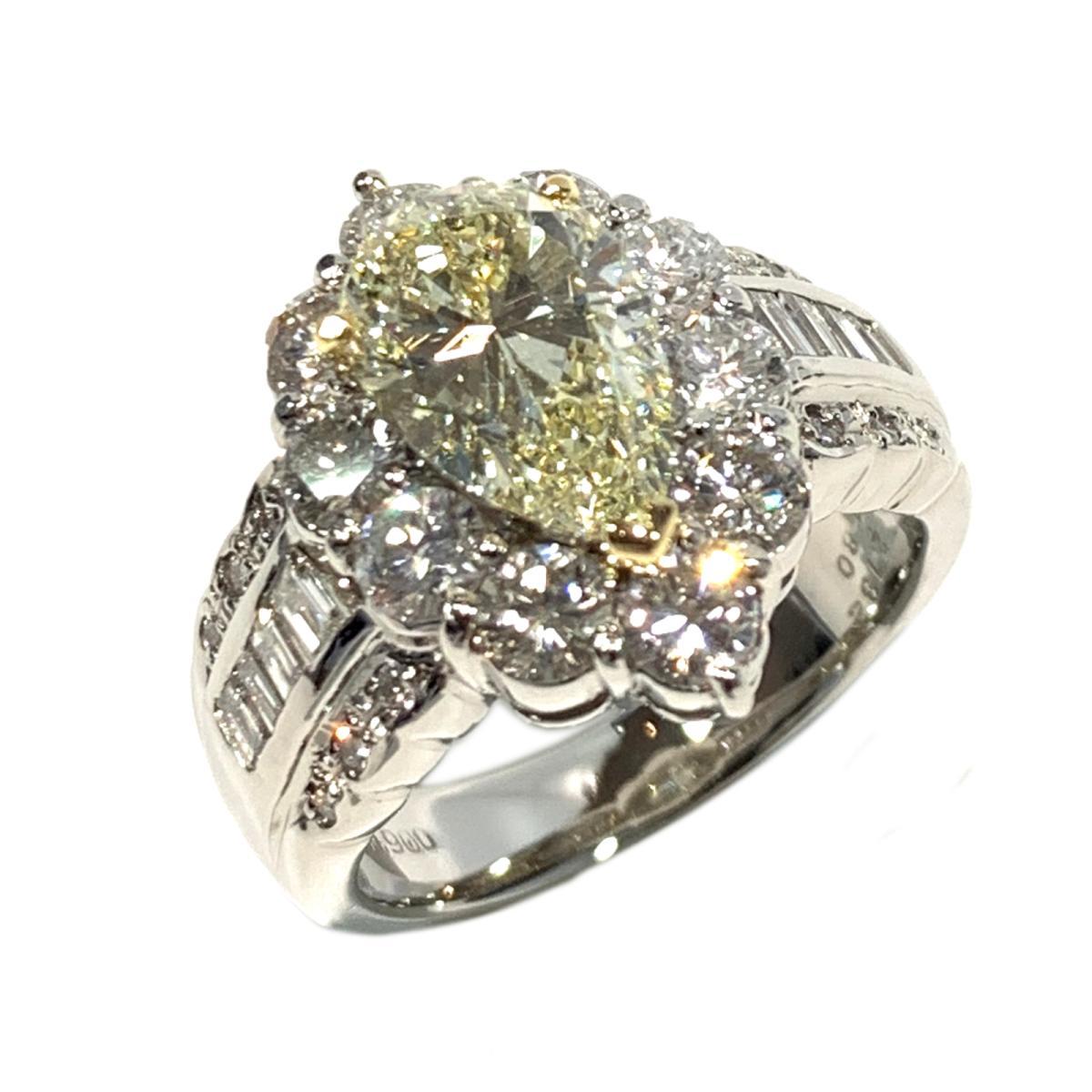【中古】 ジュエリー ダイヤモンド リング 指輪 レディース PT900 プラチナ x K18 ダイヤ2.132/1.80ct クリアー イエロー シルバー | JEWELRY BRANDOFF ブランドオフ ブランド アクセサリー