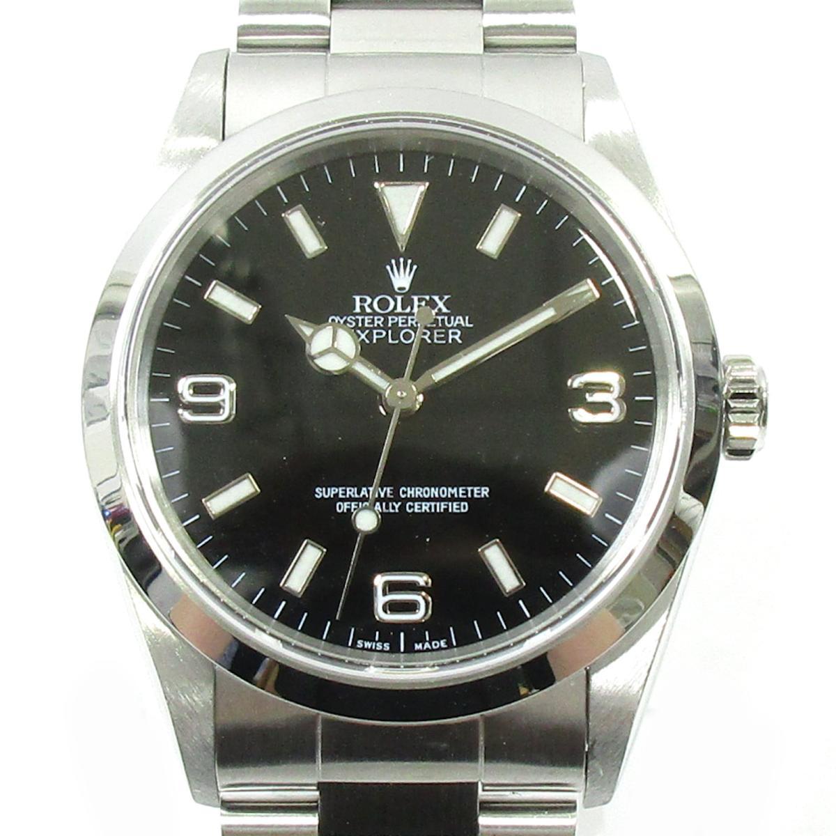 ≪期間限定≫メルマガ登録でクーポンGET! 【中古】 ロレックス エクスプローラー1 ウォッチ 腕時計 メンズ ステンレススチール (SS) シルバー (14270) | ROLEX BRANDOFF ブランドオフ ブランド ブランド時計 ブランド腕時計 時計