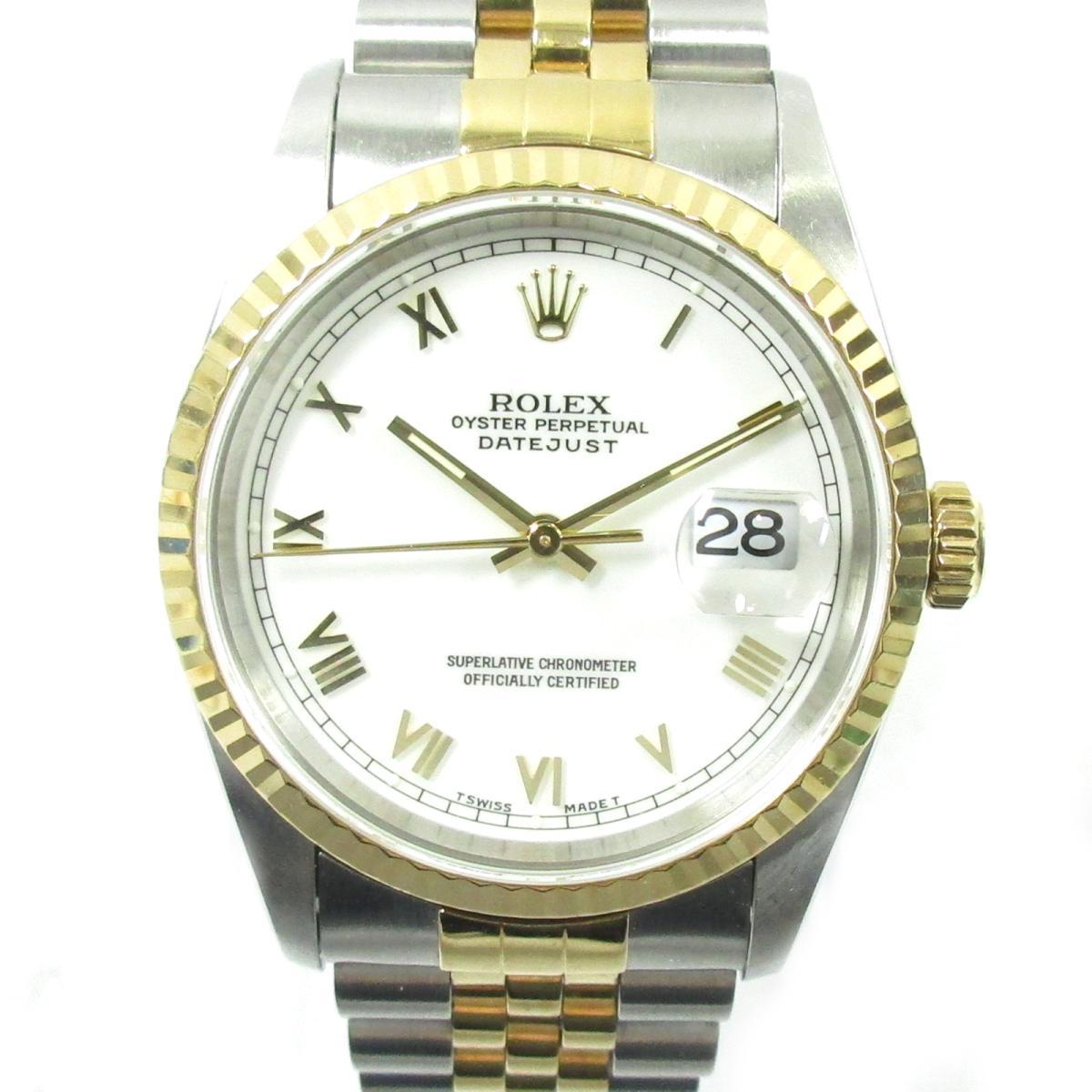 ≪期間限定≫メルマガ登録でクーポンGET! 【中古】 ロレックス デイトジャスト メンズウォッチ 腕時計 メンズ K18YG (750)イエローゴールド ステンレススチール (SS) ゴールド (16233) | ROLEX BRANDOFF ブランドオフ ブランド ブランド時計 ブランド腕時計 時計 ウォッチ