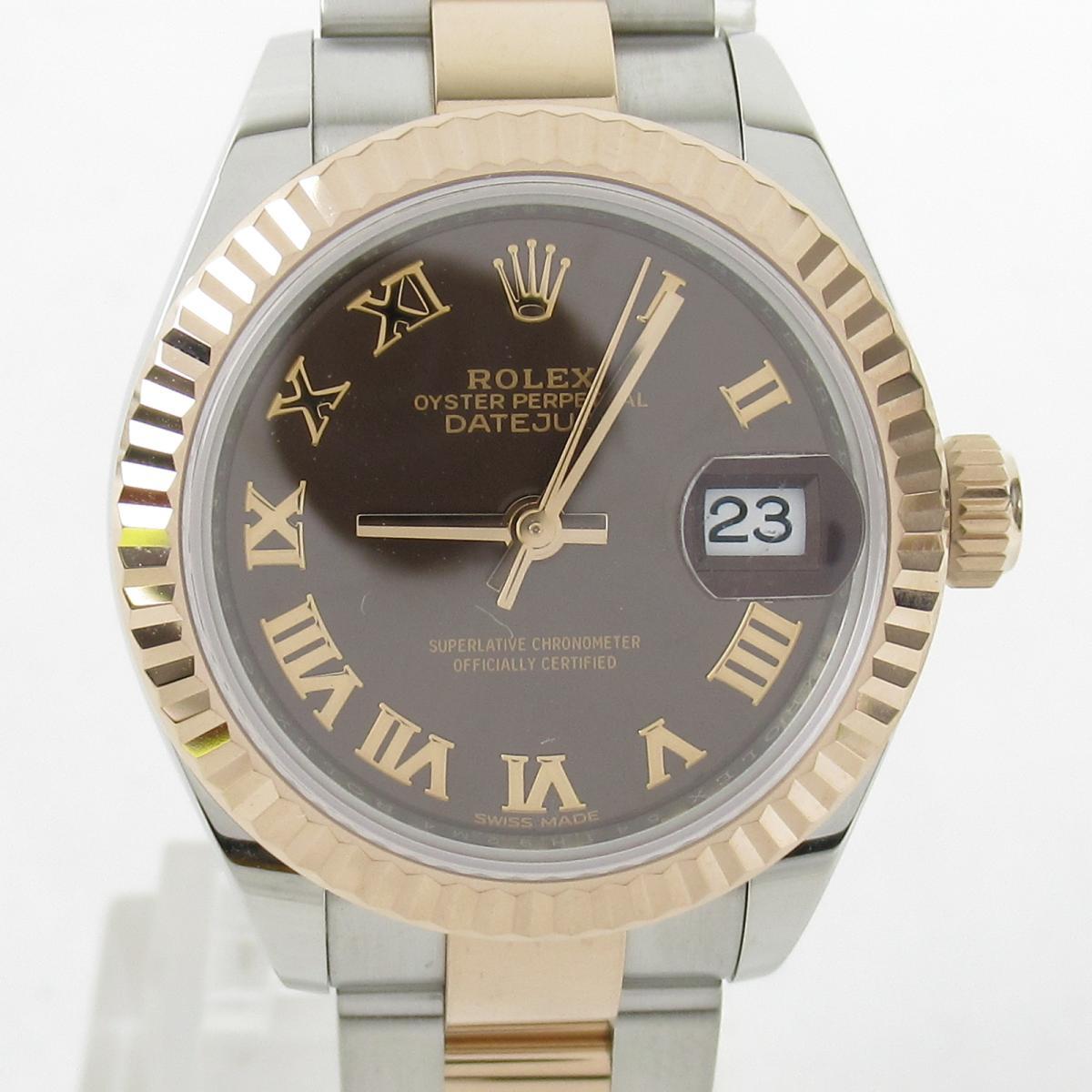 【中古】 ロレックス デイトジャスト 腕時計 レディース ステンレススチール (SS) K18 (エバーローズゴールド) (279171) | ROLEX BRANDOFF ブランドオフ ブランド ブランド時計 ブランド腕時計 時計 ウォッチ