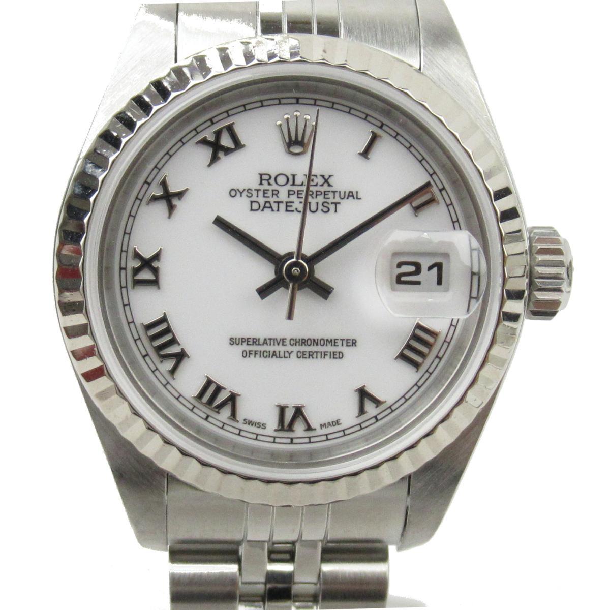 ≪期間限定≫メルマガ登録でクーポンGET! 【中古】 ロレックス デイトジャスト 腕時計 レディース K18WG (750)ホワイトゴールド ステンレススチール (SS) (79174 Y番) | ROLEX BRANDOFF ブランドオフ ブランド ブランド時計 ブランド腕時計 時計 ウォッチ