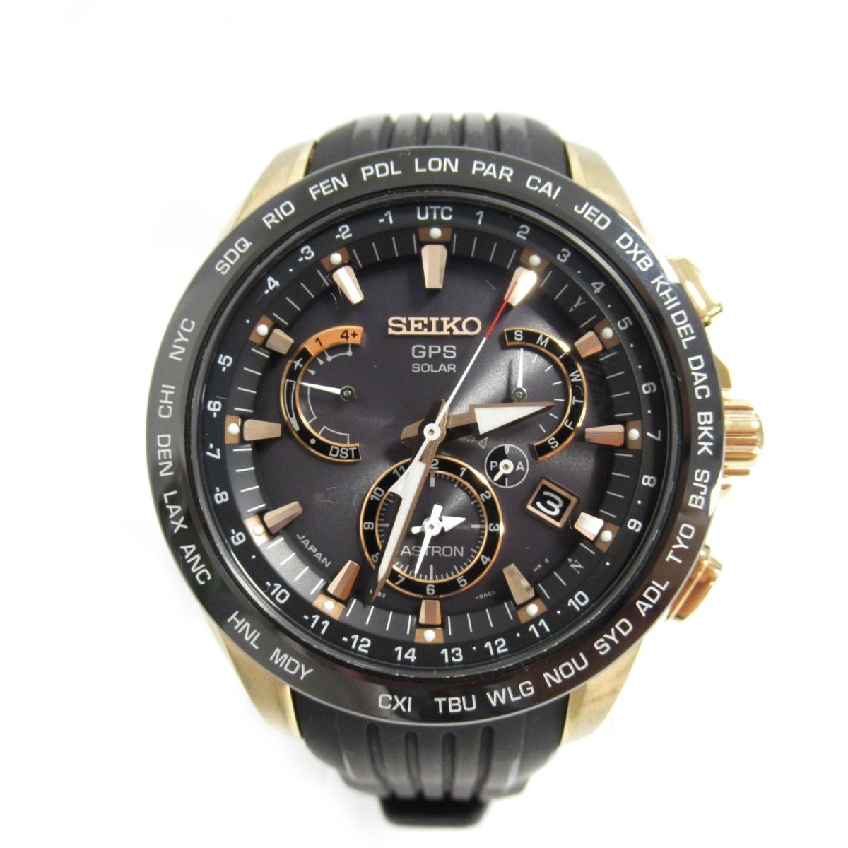 ≪期間限定≫メルマガ登録でクーポンGET! 【中古】セイコー アストロン GPS ソーラー 腕時計 メンズ ステンレススチール (SS) ピンクゴールドメッキ セラミック ラバーベルト (SB B055)   SEIKO BRANDOFF ブランドオフ ブランド ブランド時計 ブランド腕時計 時計 ウォッチ