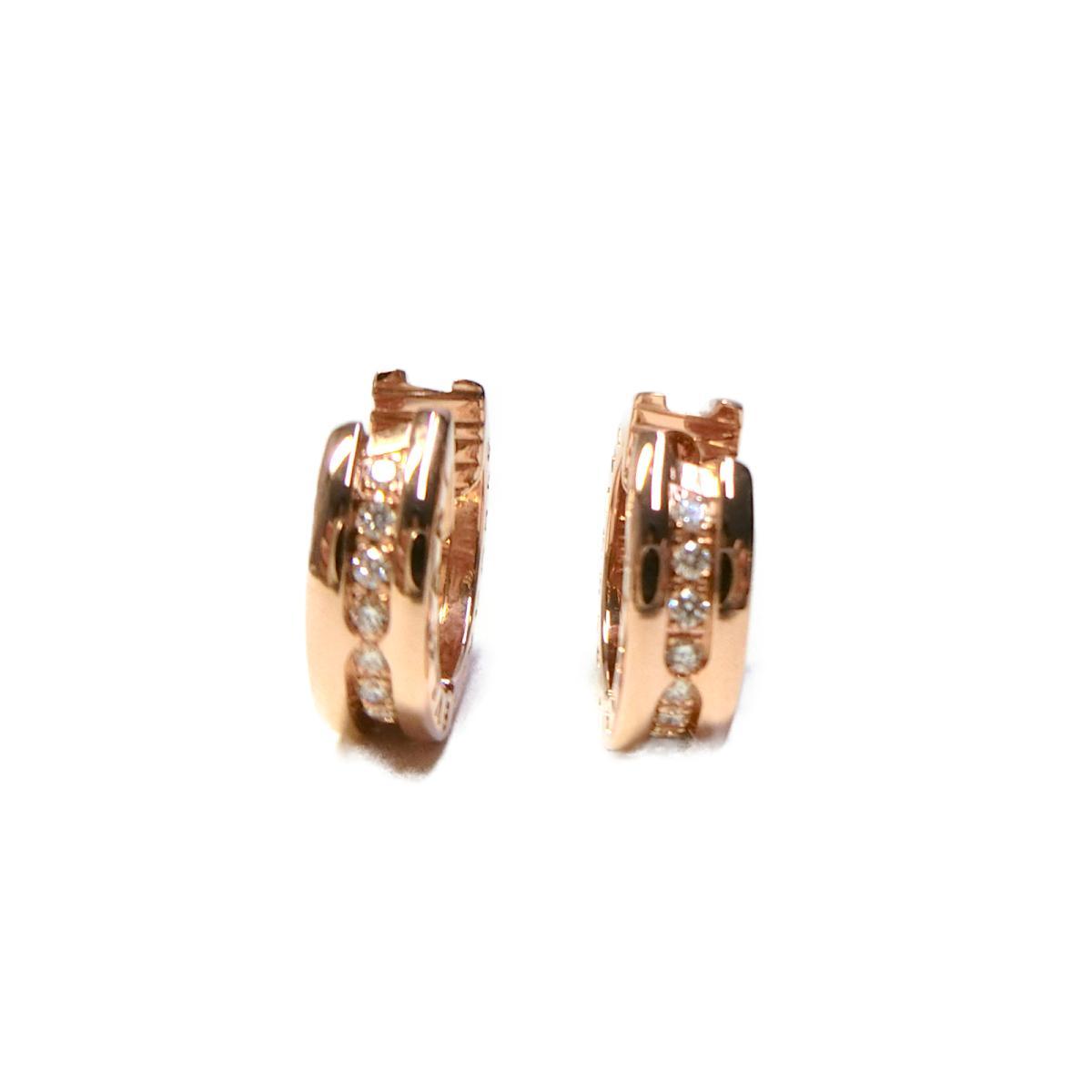 ブルガリ B zero1 スモールフープ ダイヤモンドイヤリング レディース K18PG750ピンクゴールドダイヤモンド ゴールドBVLGARI BRANDOFF ブランドオフ ブランド ジュエリー アクセサリー イヤリングLSpGMjqUzV