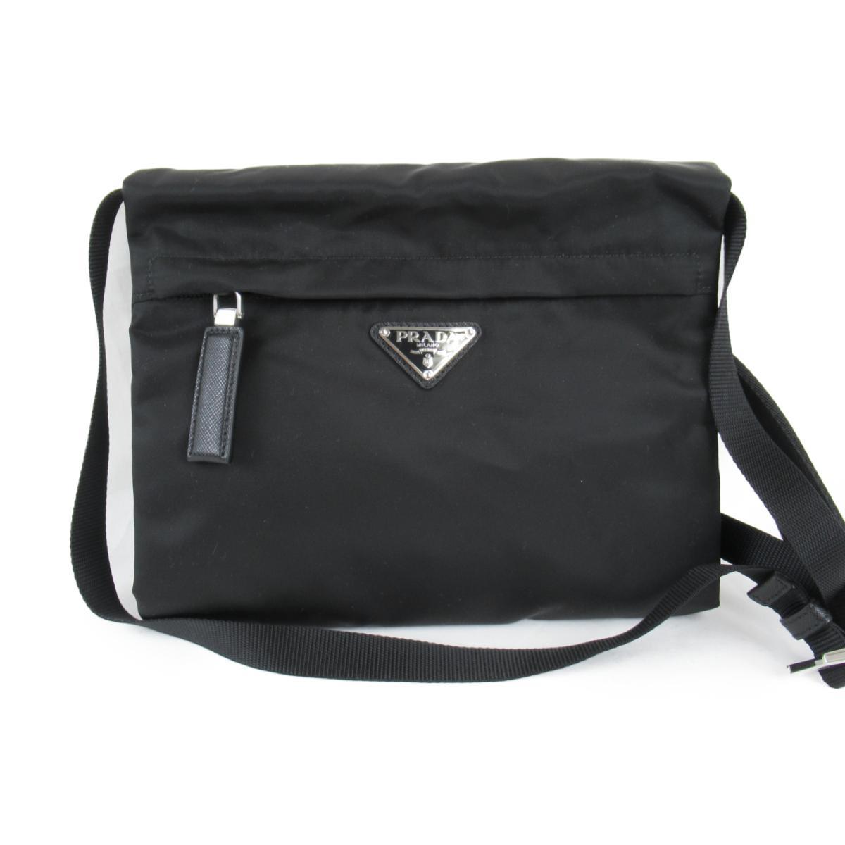 プラダ BAG ナイロン ショルダーバッグ メンズ レディース ブラック (2VH0582B2YF0002) | PRADA BRANDOFF ブランドオフ ブランド ブランドバッグ ブランドバック かばん バッグ バックバック 肩かけ