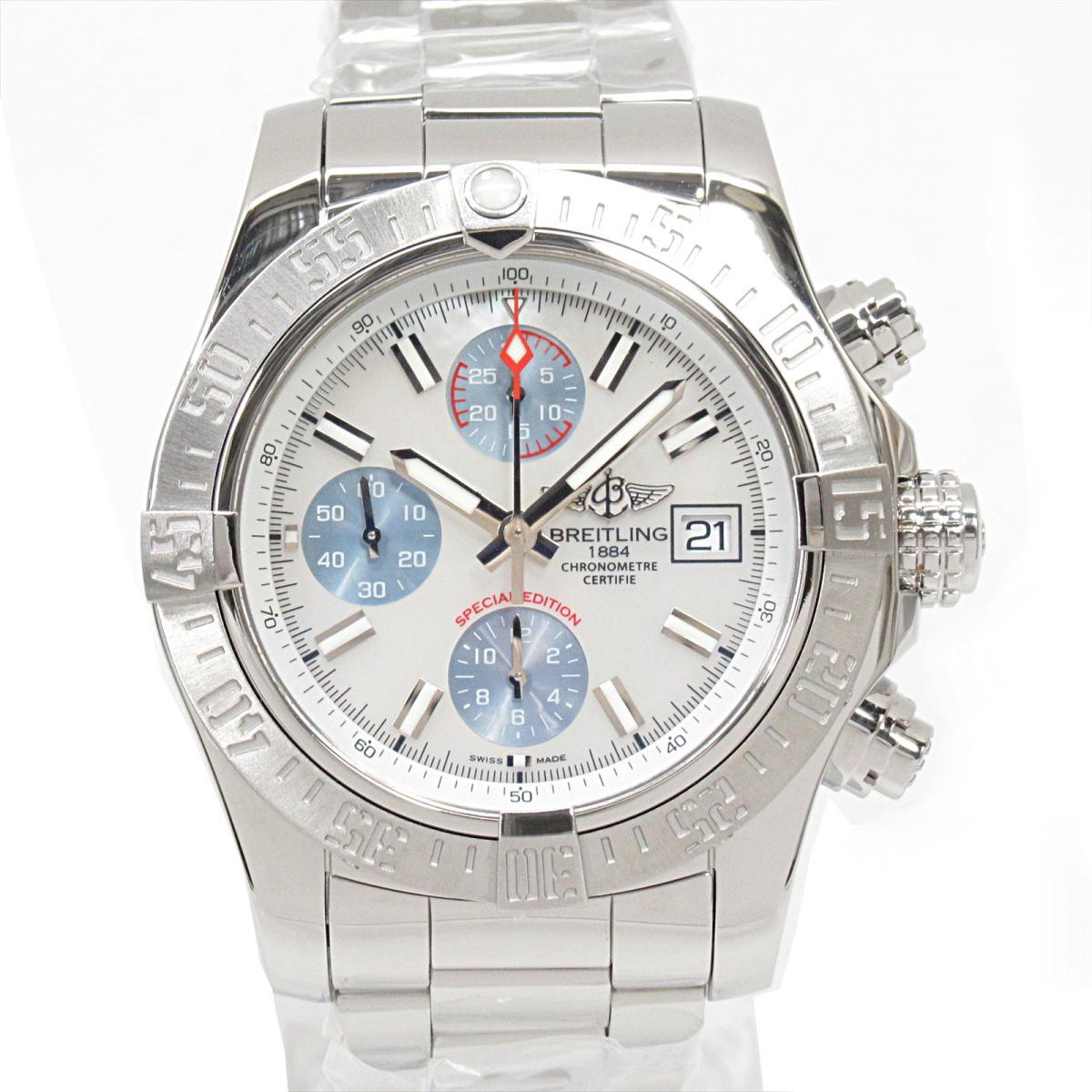 【中古】ブライトリング アベンジャー2 腕時計 ウォッチ メンズ ステンレススチール (SS) (A13381) | BREITLING BRANDOFF ブランドオフ ブランド ブランド時計 ブランド腕時計 時計
