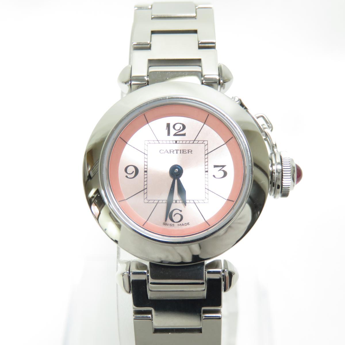【中古】 カルティエ ミス パシャ レディース腕時計 クォーツ レディース ステンレススチール (SS) (W3140008) | Cartier BRANDOFF ブランドオフ ブランド ブランド時計 ブランド腕時計 腕時計 時計 ウォッチ
